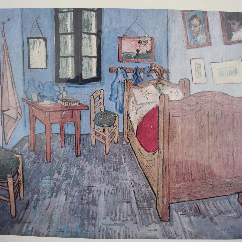 ... Chicago Art Institute Framed Chicago Art Institute Van Gogh The Bedroom  Print ...