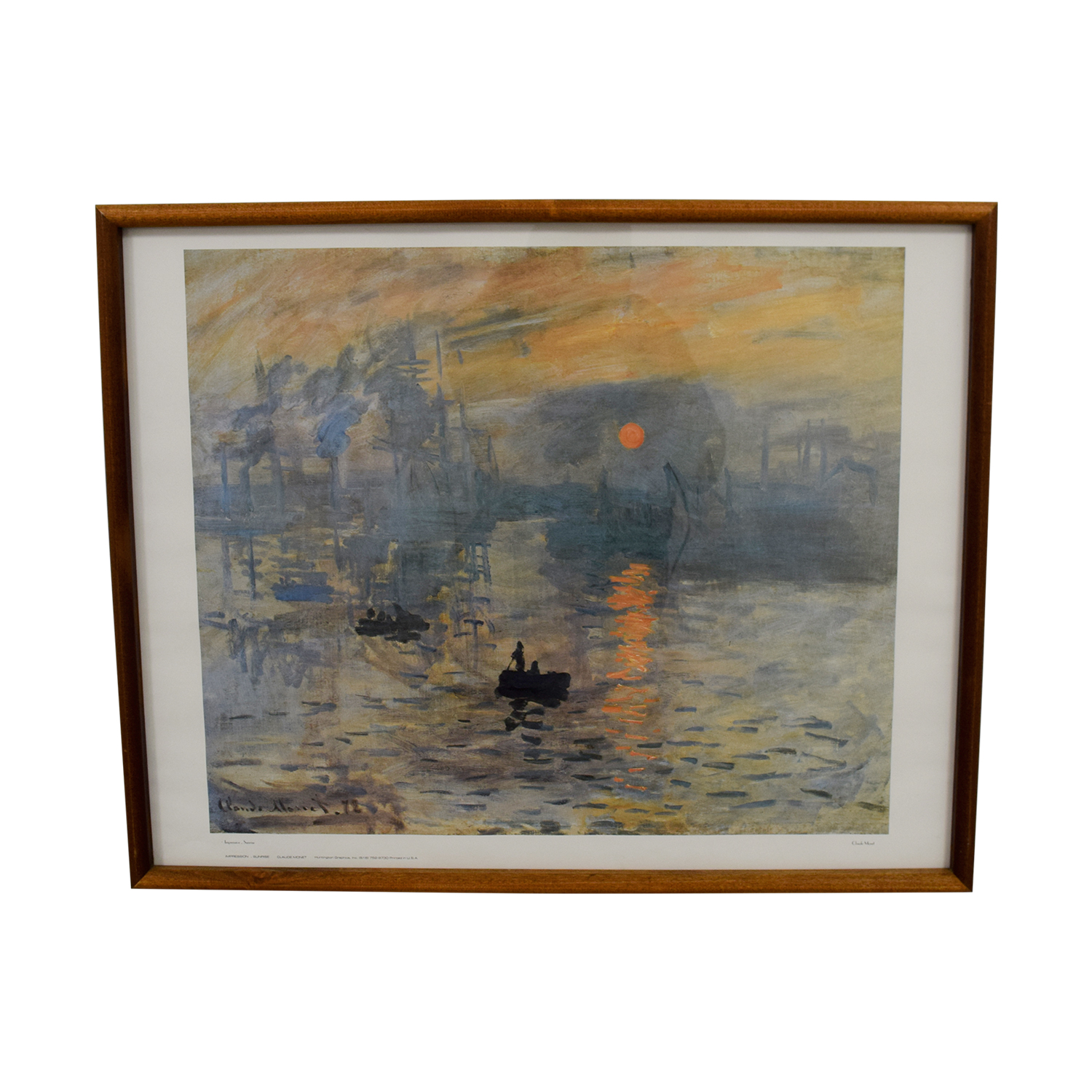 Chicago Art Institute Claude Monet Sunrise / Wall Art