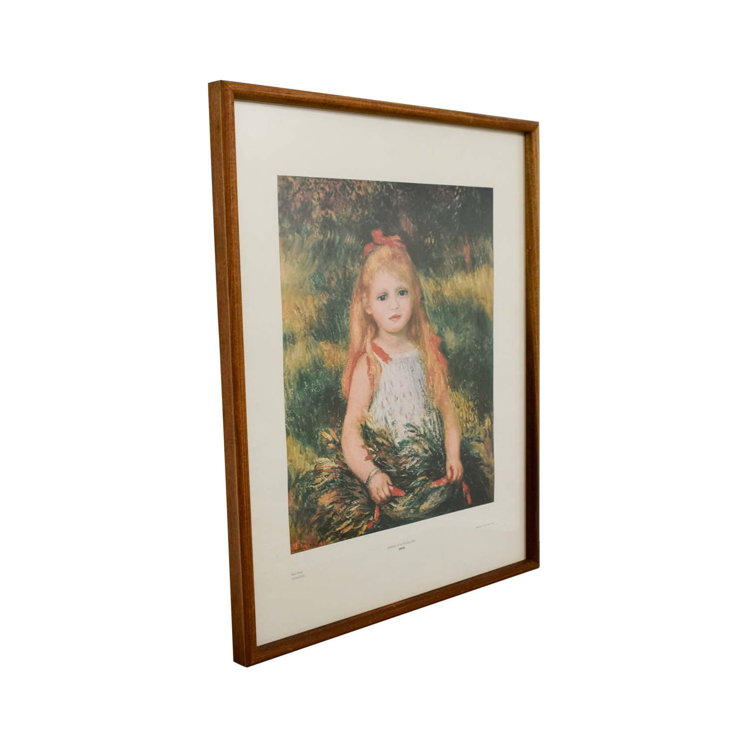 Chicago Art Institute Pierre-Auguste Renoir Poetry of a Young Girl Print price