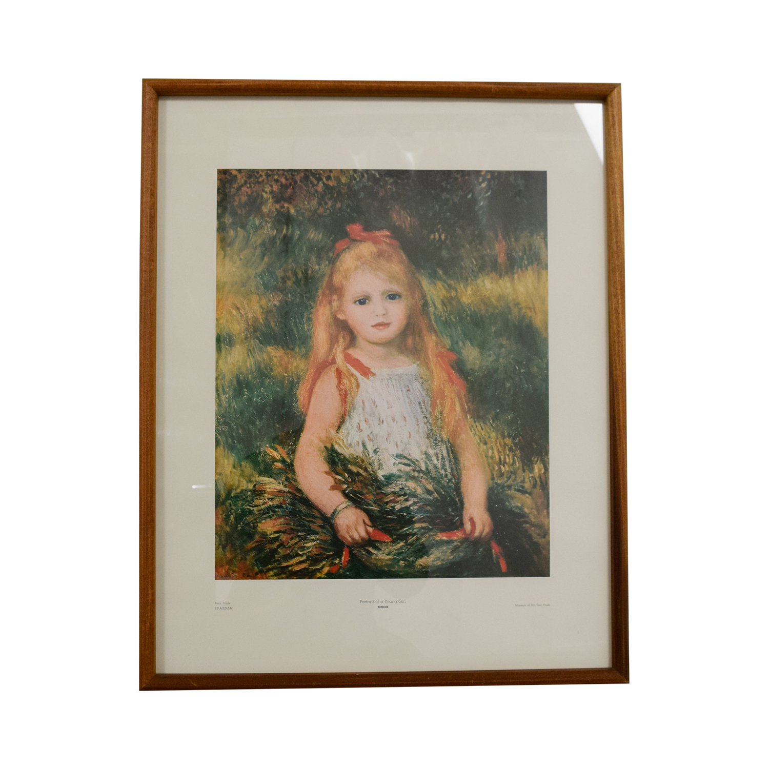 Chicago Art Institute Pierre-Auguste Renoir Poetry of a Young Girl Print used