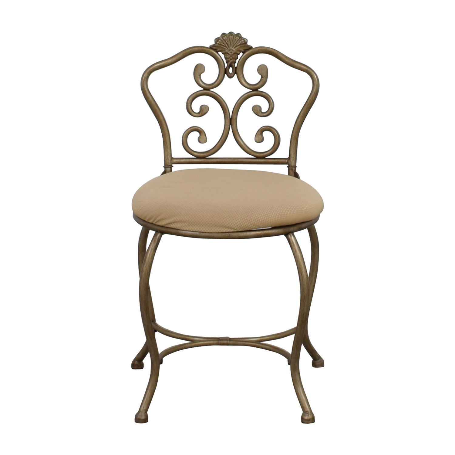 Tan Seat with Silver Frame Chair sale