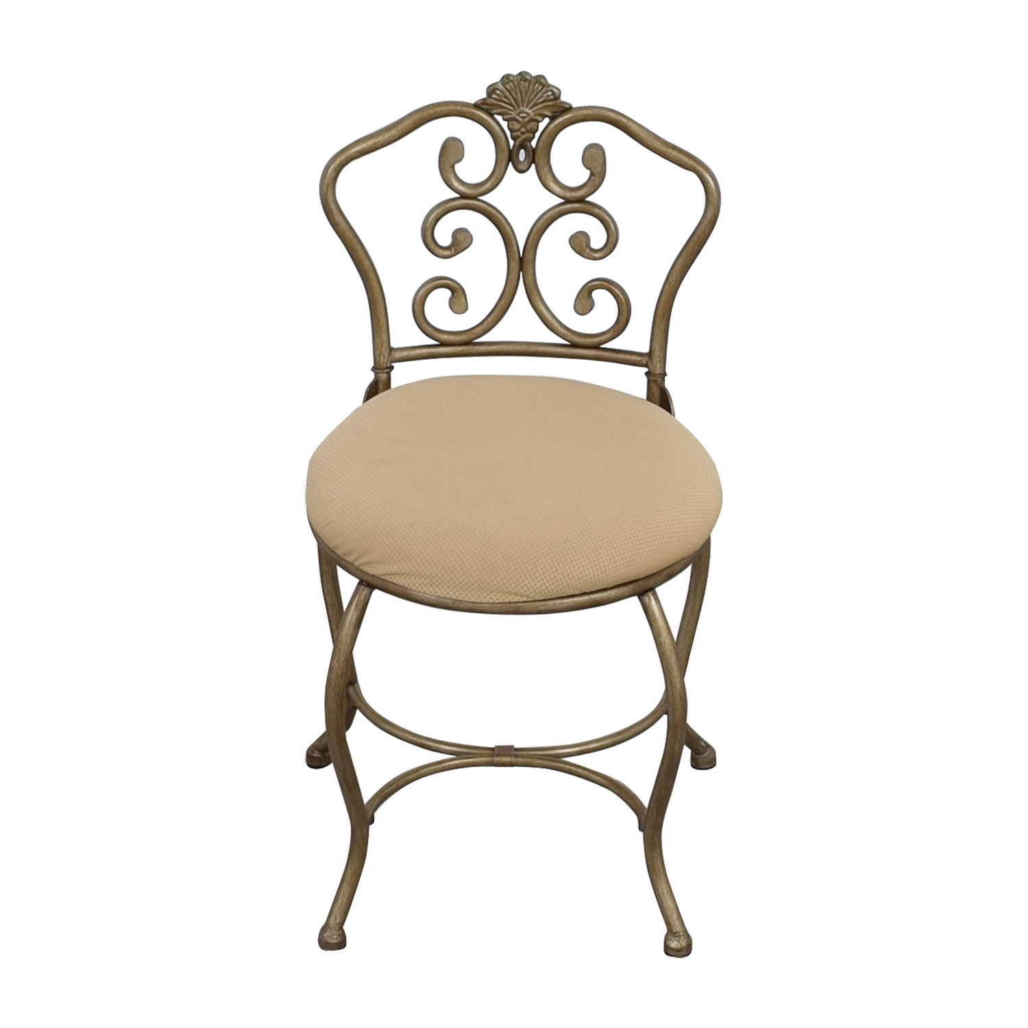 shop Tan Seat with Silver Frame Chair online