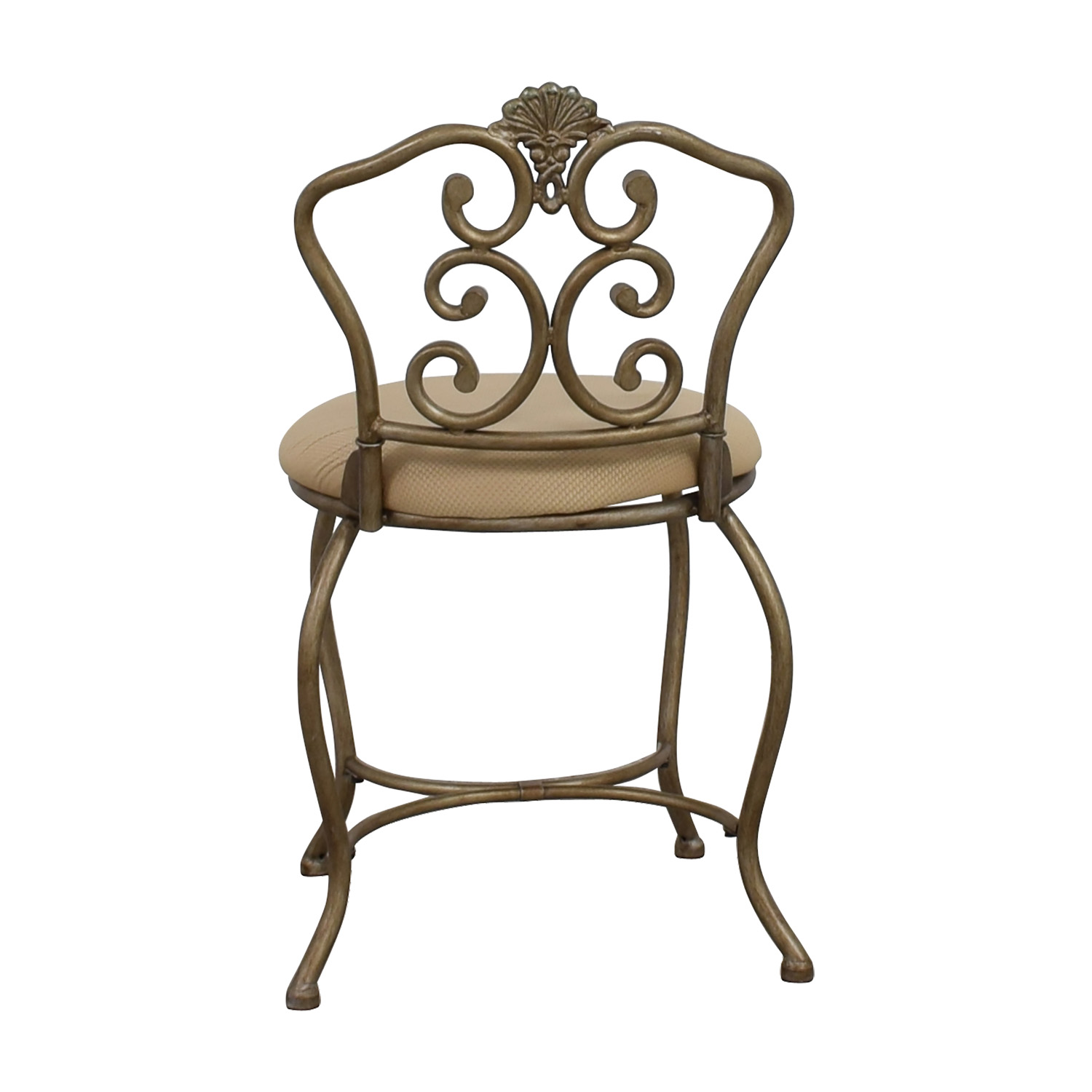 Tan Seat with Silver Frame Chair coupon