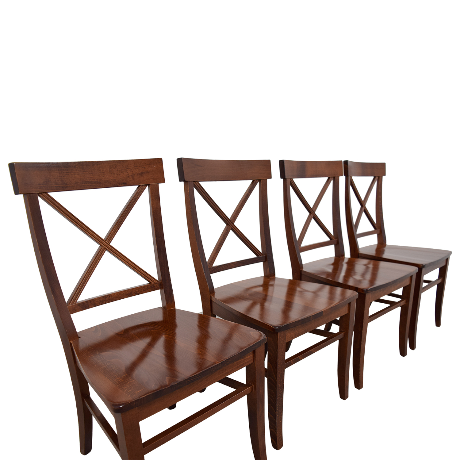 84% OFF - Pottery Barn Pottery Barn Aaron Wood Dining Chairs / Chairs