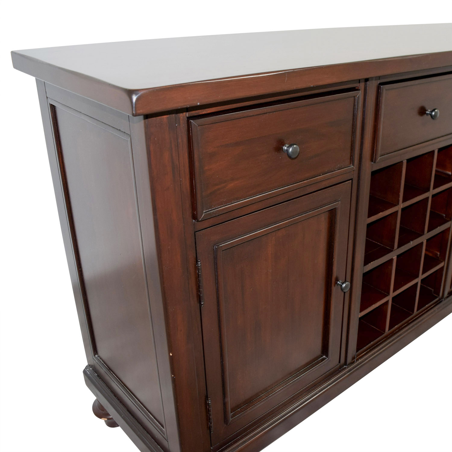 67 Off Pottery Barn Pottery Barn Wood Bar With Wine