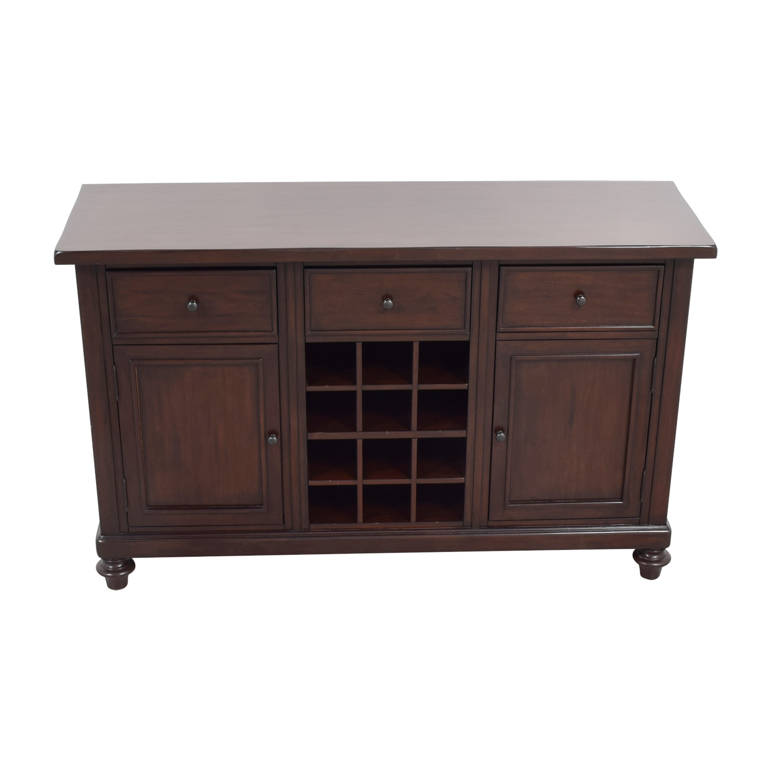 Pottery Barn Pottery Barn Wood Bar with Wine Storage Cabinets & Sideboards