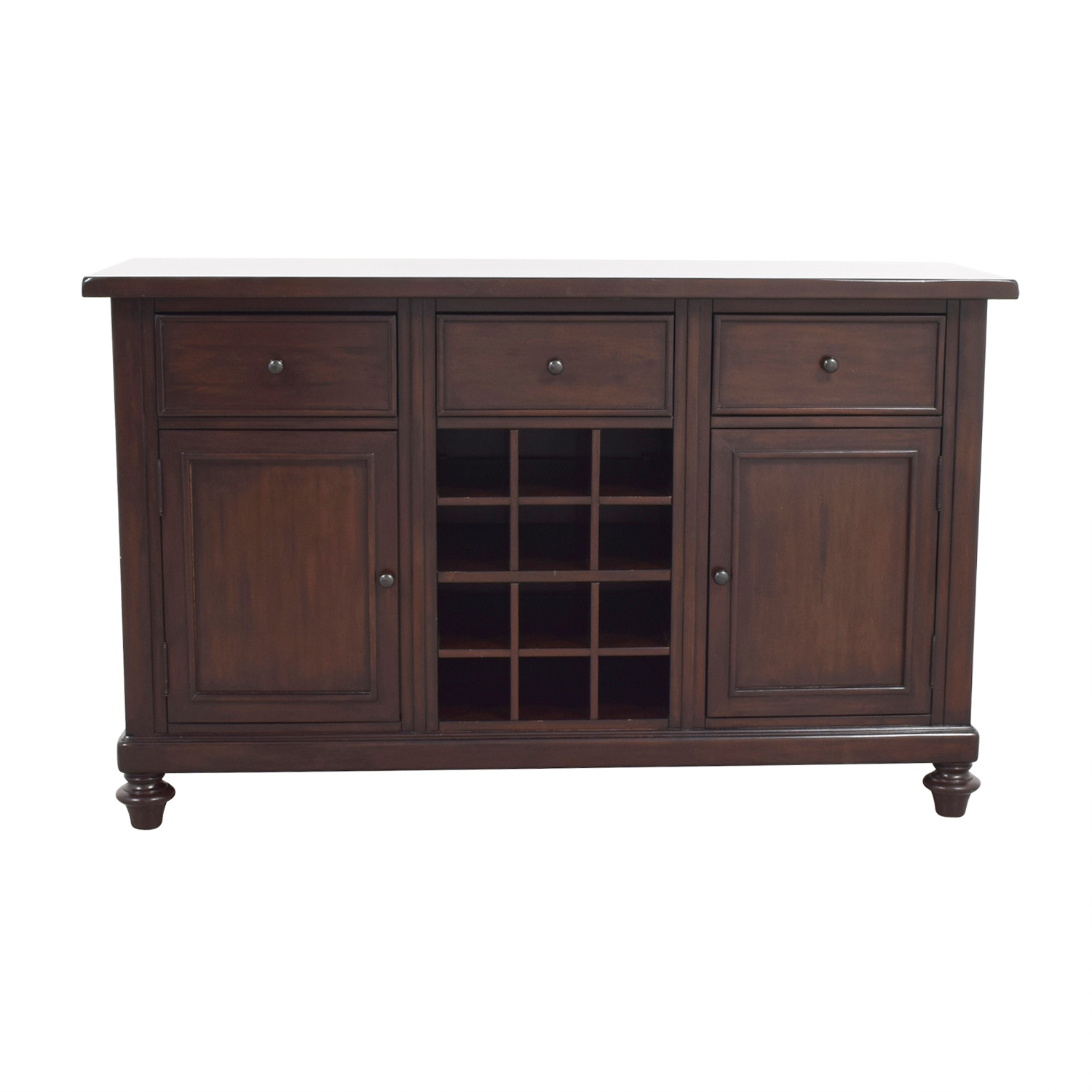Pottery Barn Pottery Barn Wood Bar with Wine Storage Mahogany
