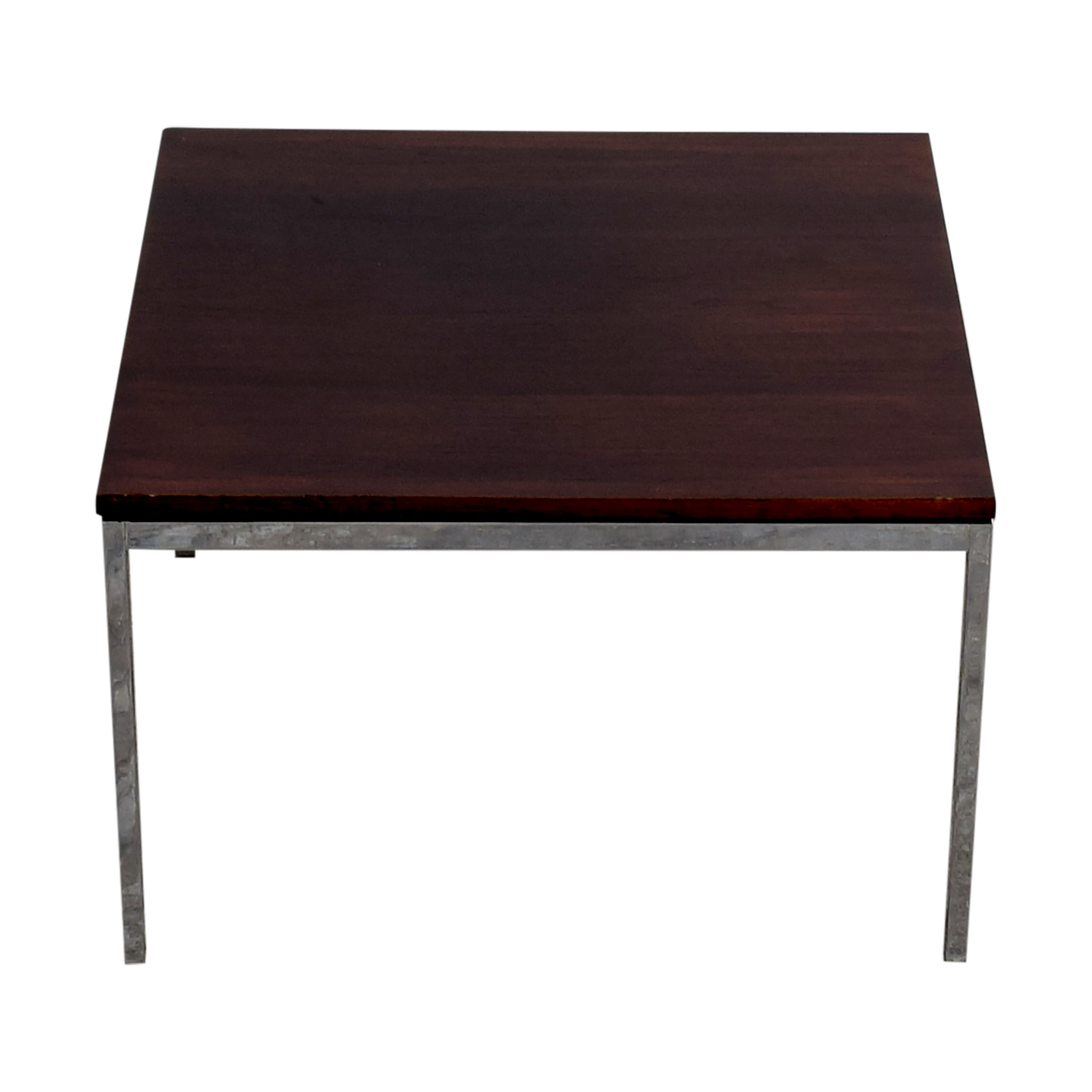 buy Florence Knoll Rosewood and Chrome Coffee Table Florence Knoll