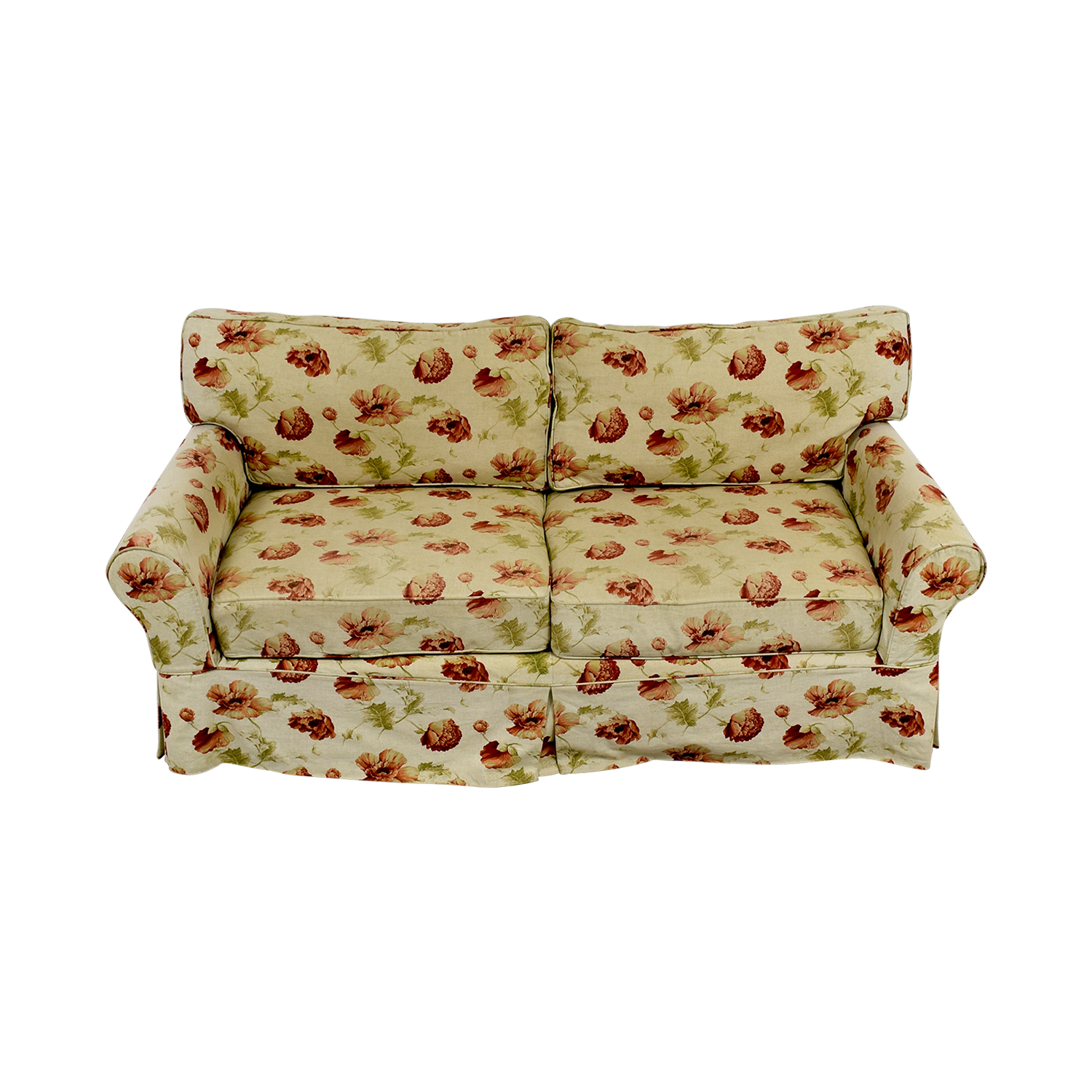 shop Crate & Barrel Slip Covered Floral Sofa Crate & Barrel Sofas