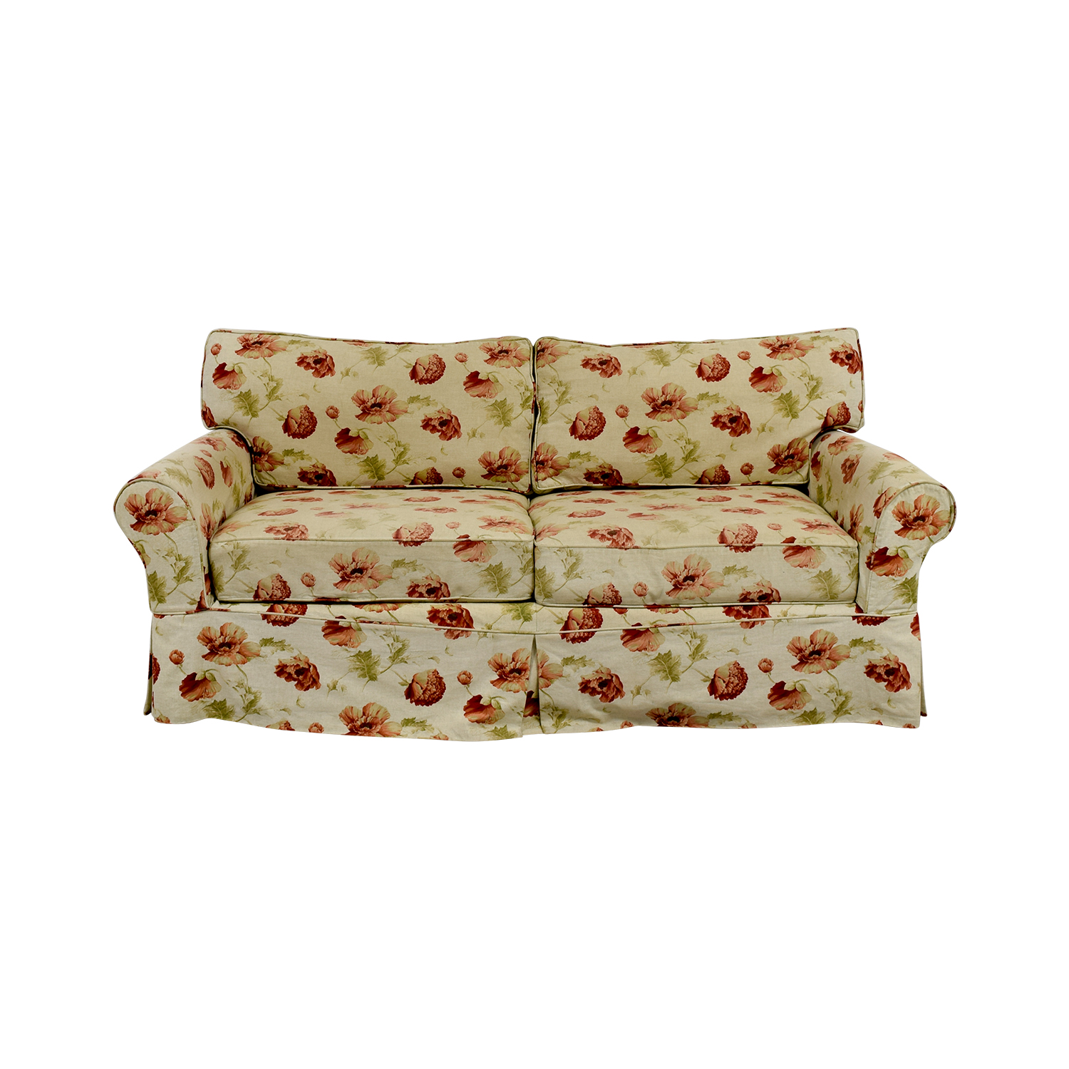 buy Crate & Barrel Slip Covered Floral Sofa Crate & Barrel