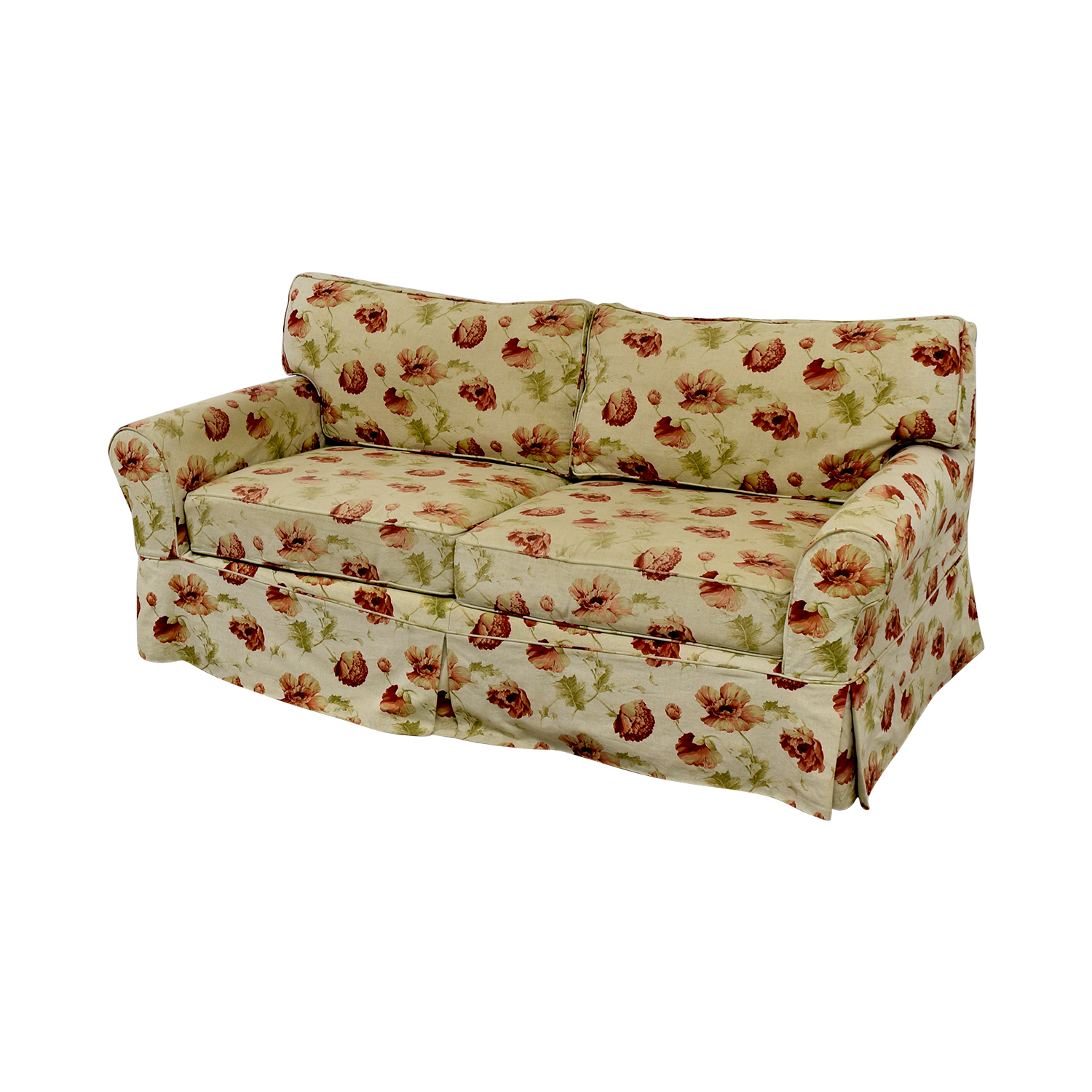 74 Off Crate Barrel Crate Barrel Slip Covered Floral Sofa Sofas