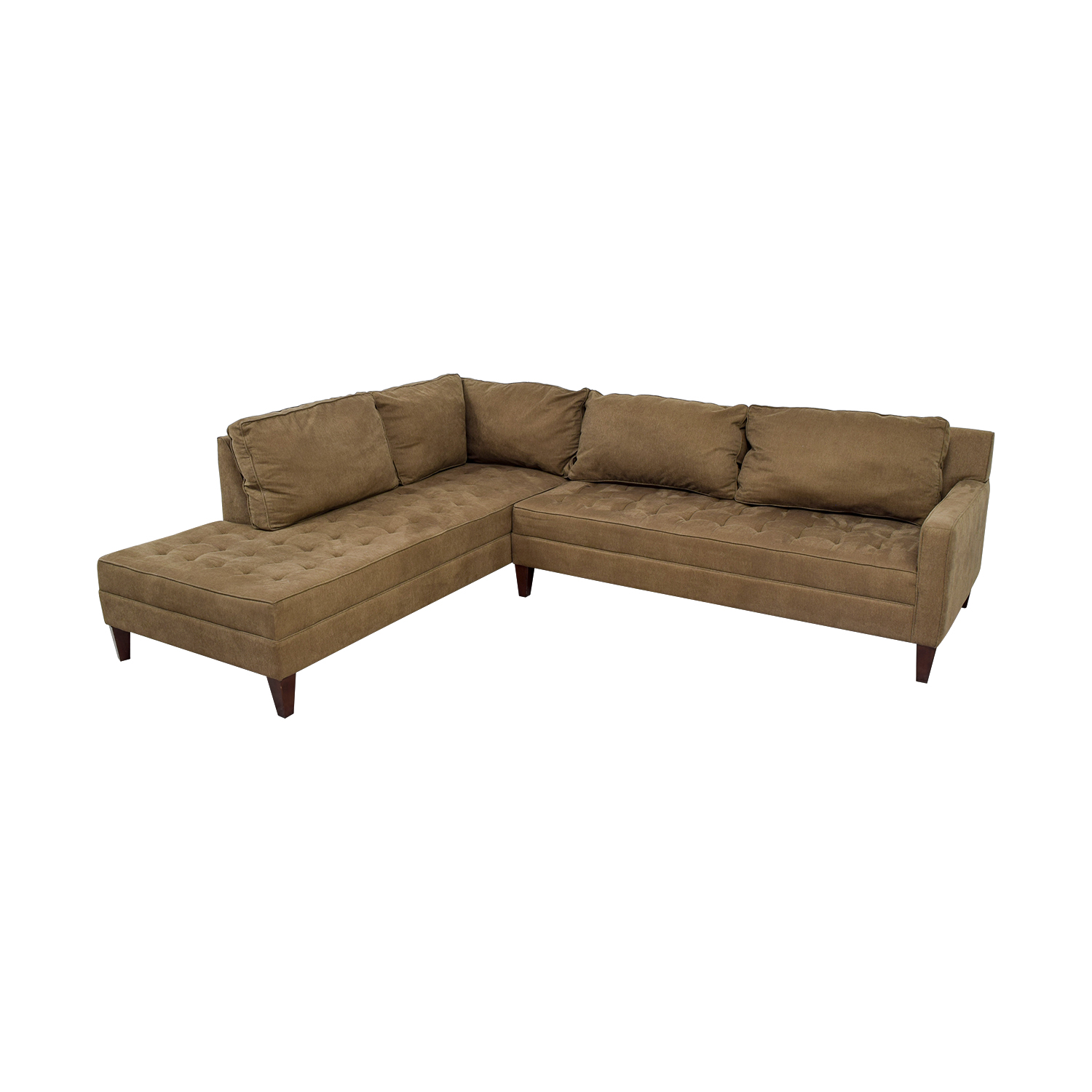 74 Off Z Gallery Z Gallery Brown Tufted Chaise L Shaped