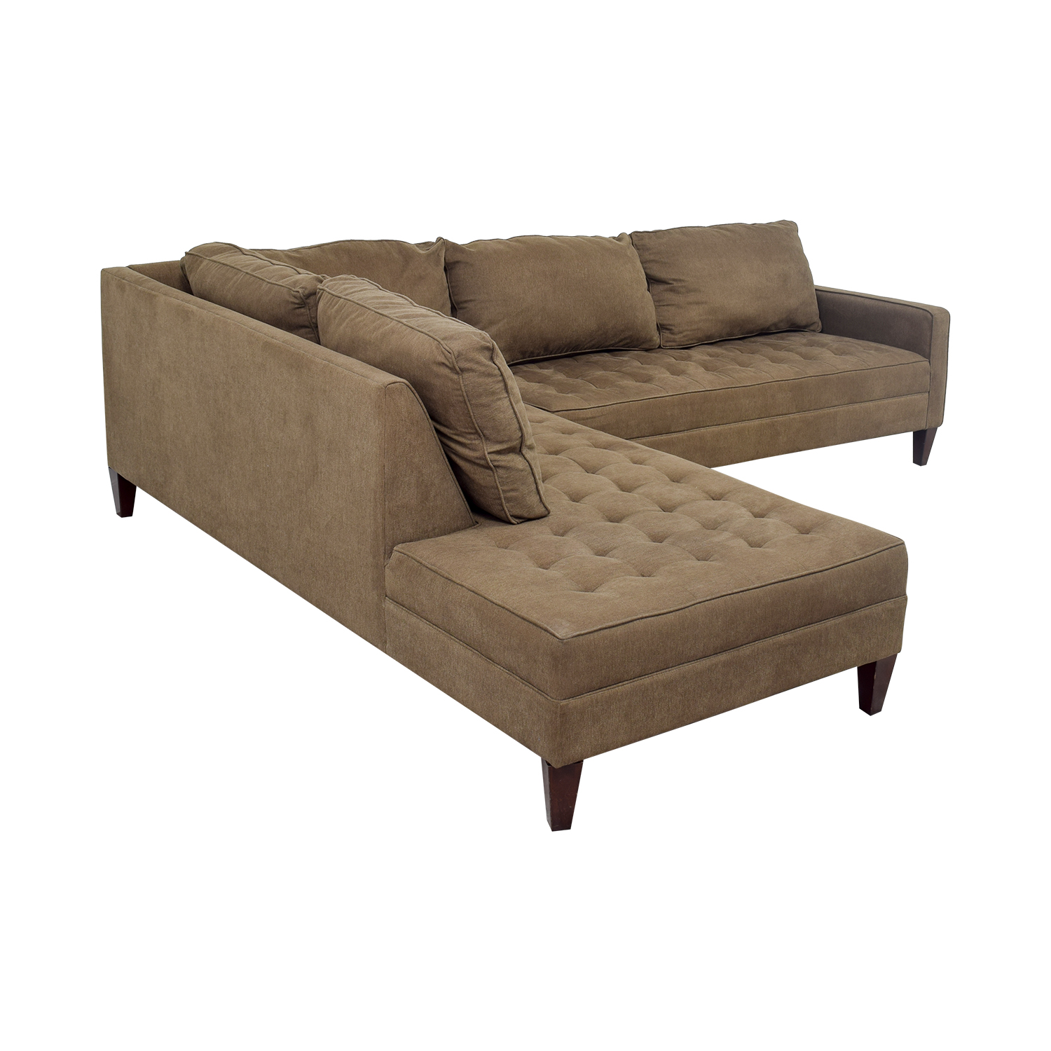 chaise sectional sectionals threshold in ashley belcastel piece height width trim fabric item products gray right with