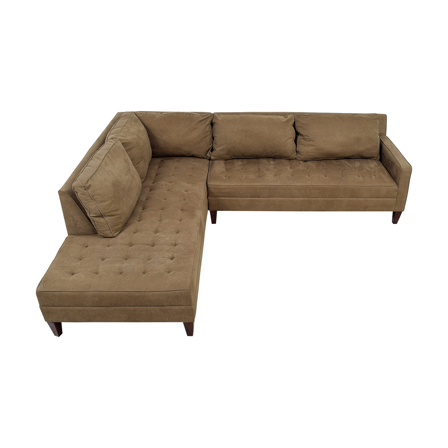 Z Gallery Brown Tufted Chaise L-Shaped Sectional / Sectionals