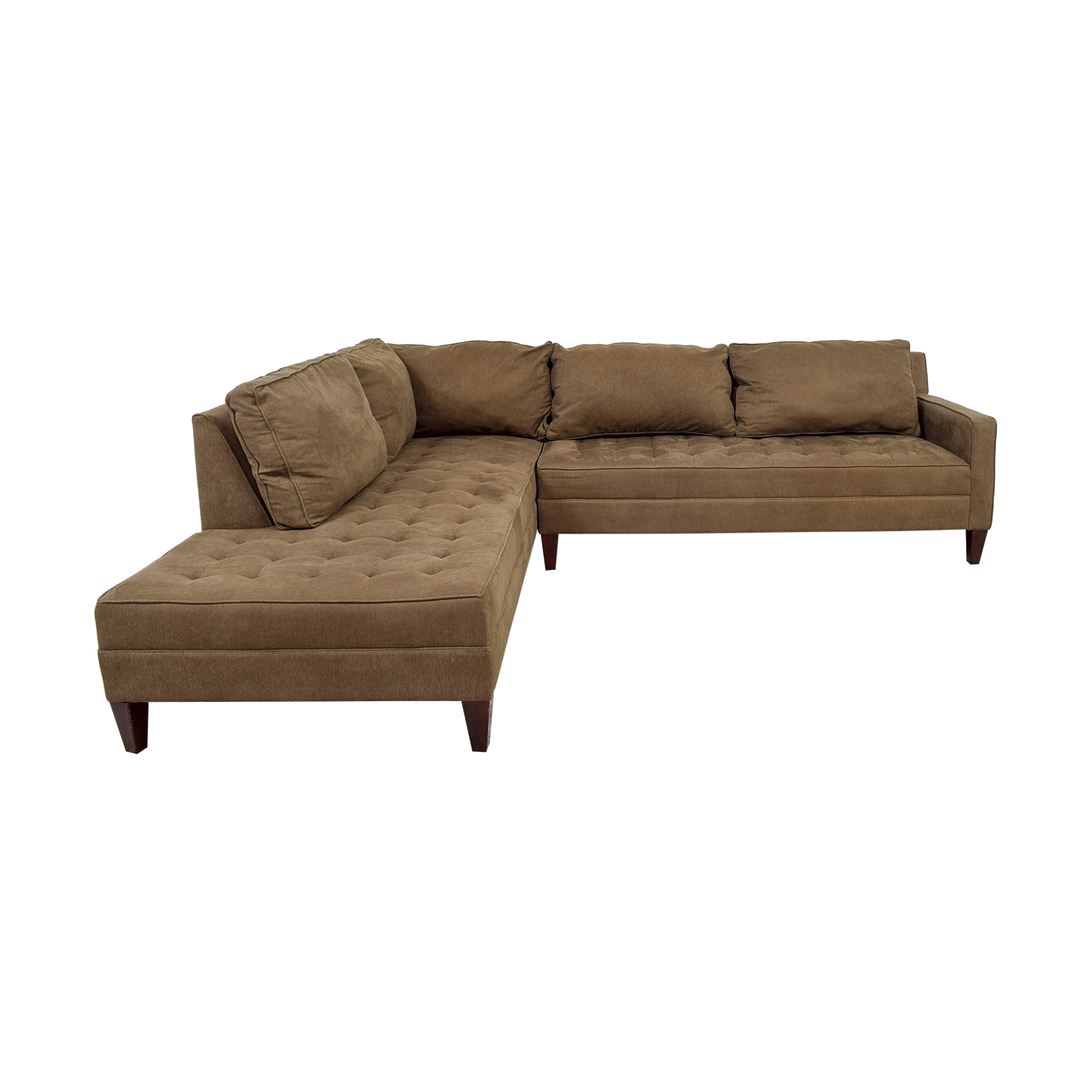 buy Z Gallery Brown Tufted Chaise L-Shaped Sectional Z Gallery Sectionals