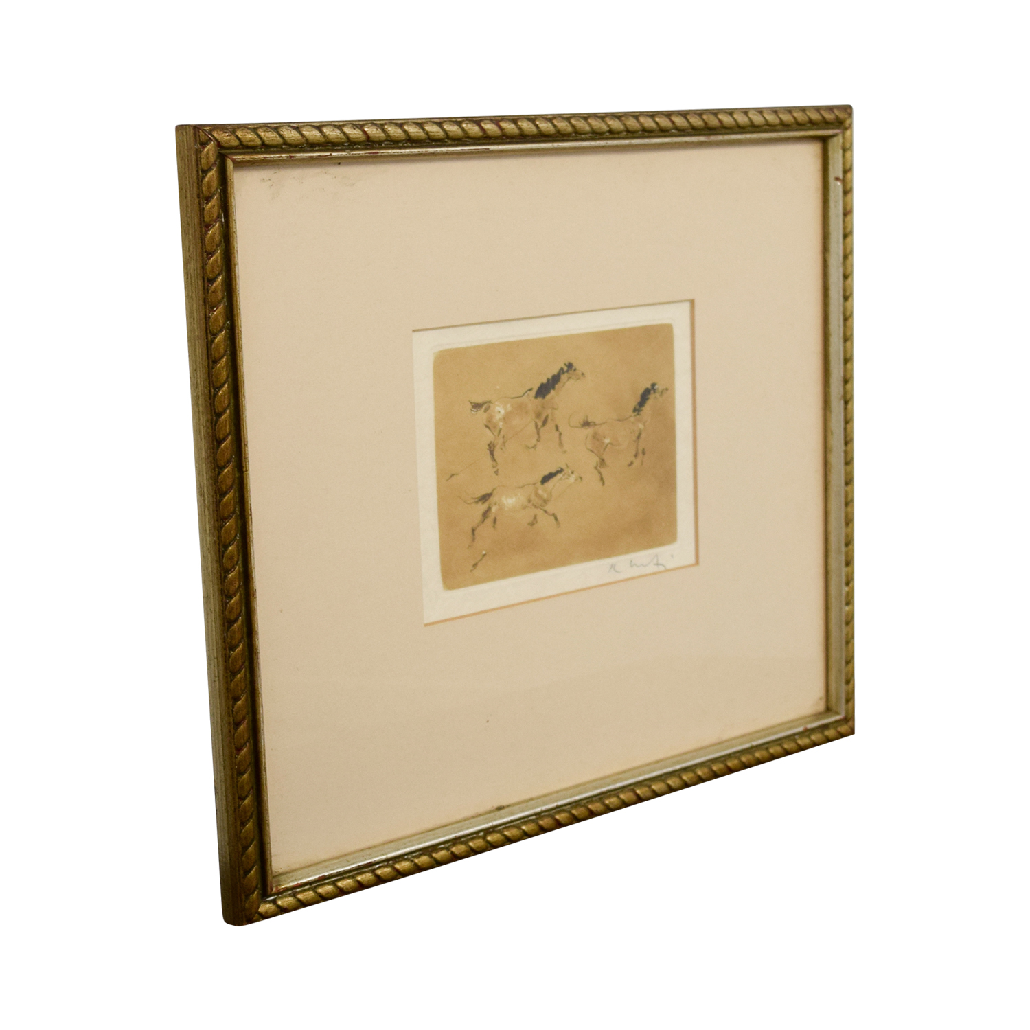 Framed Horse Print used