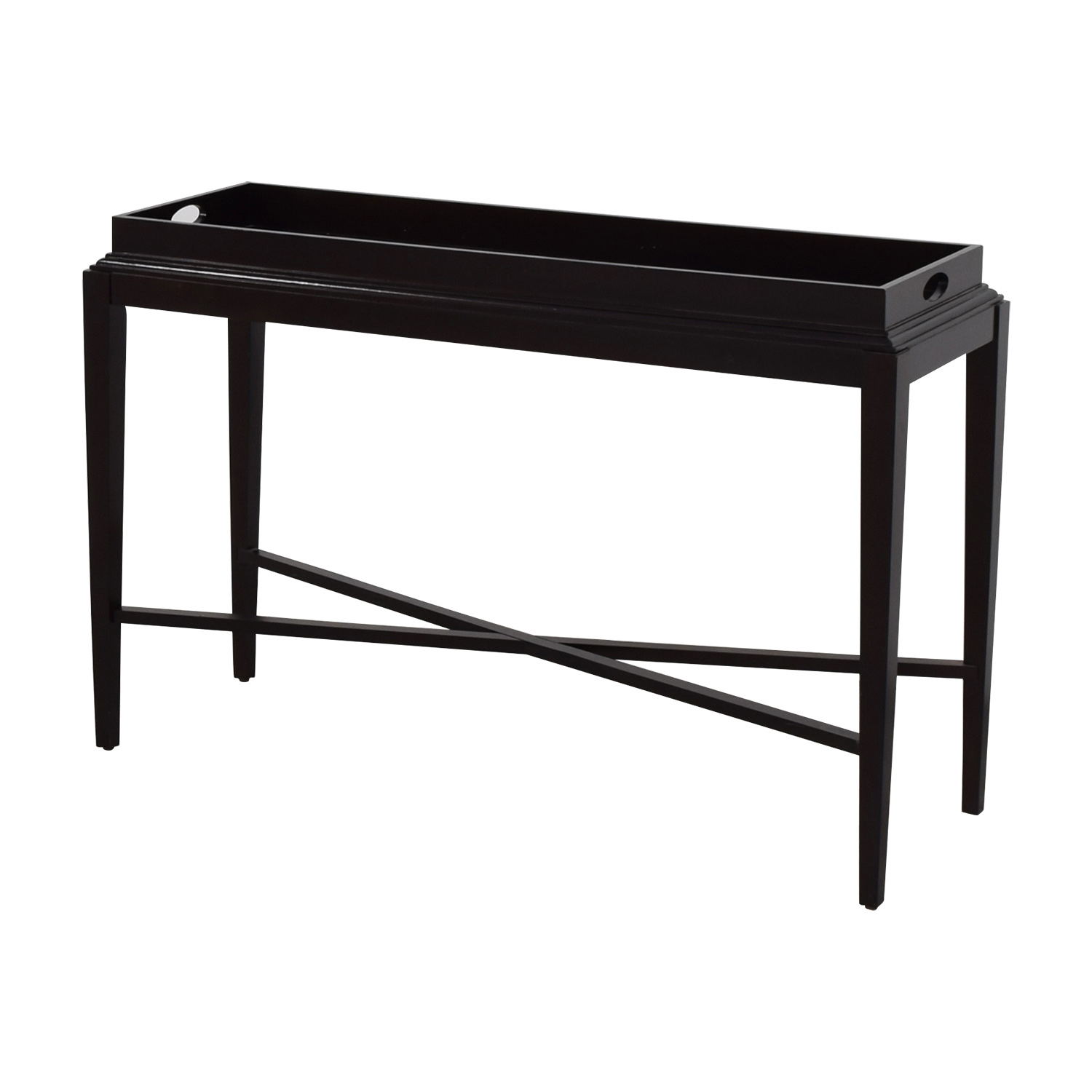 42 off black tray console table tables black tray console table geotapseo Choice Image