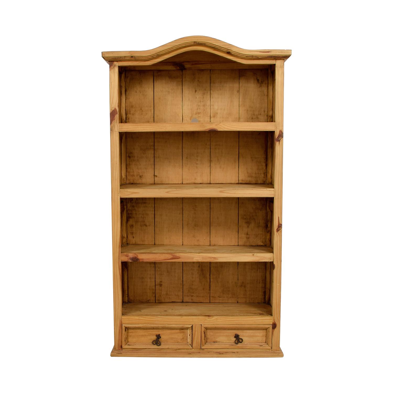 90 Off Solid Wood Bookshelf Storage