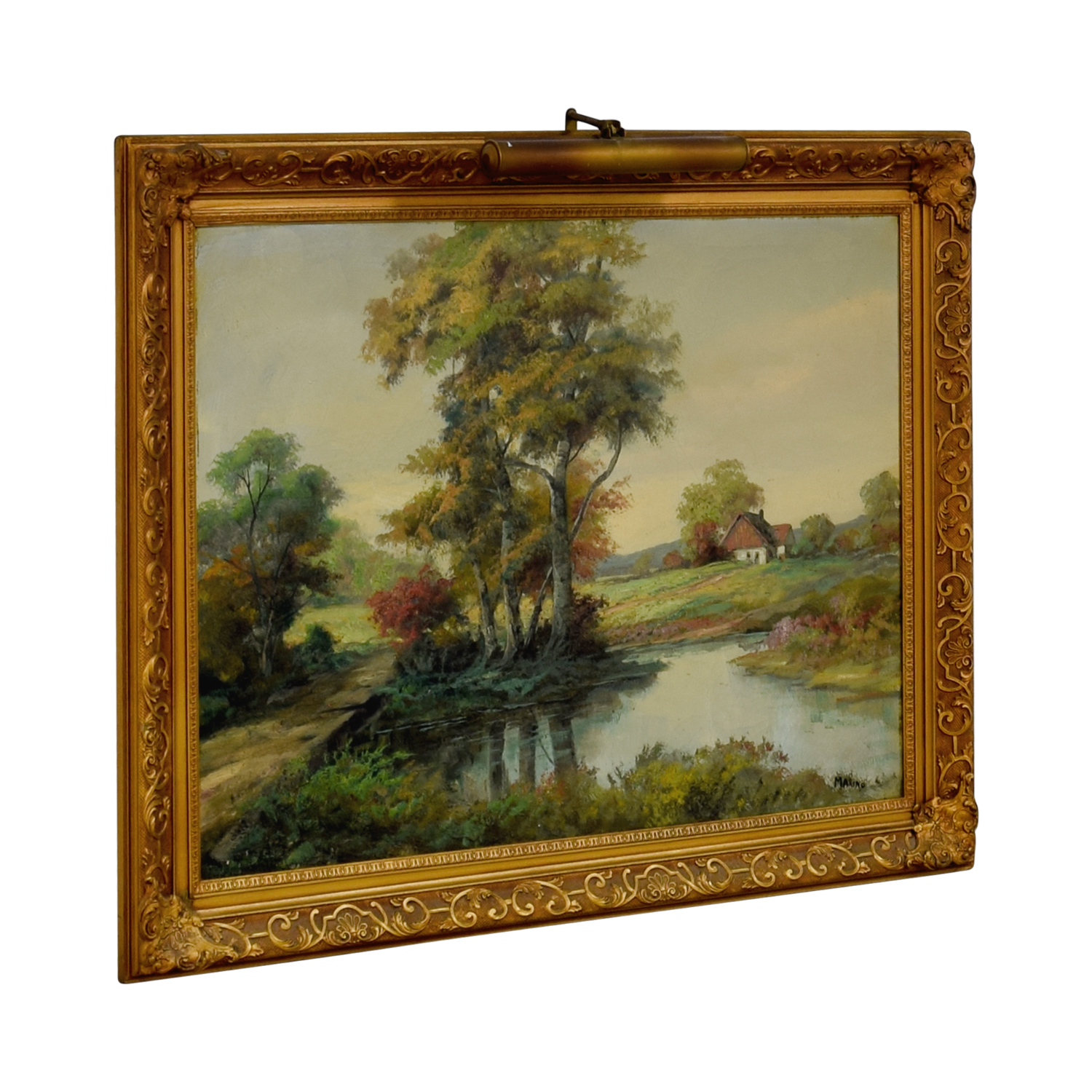 shop Lighted Landscape Oil Painting