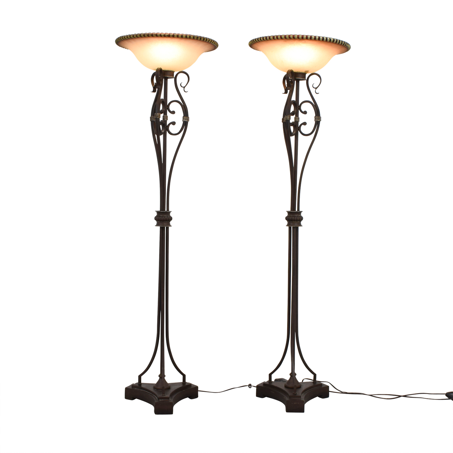 Uttermost Uttermost Metal and Glass Floor Lamps dimensions