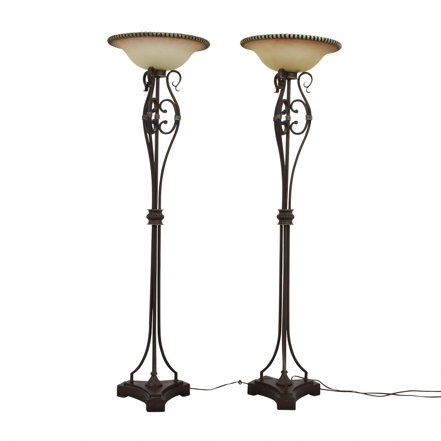 Uttermost Uttermost Metal and Glass Floor Lamps nyc