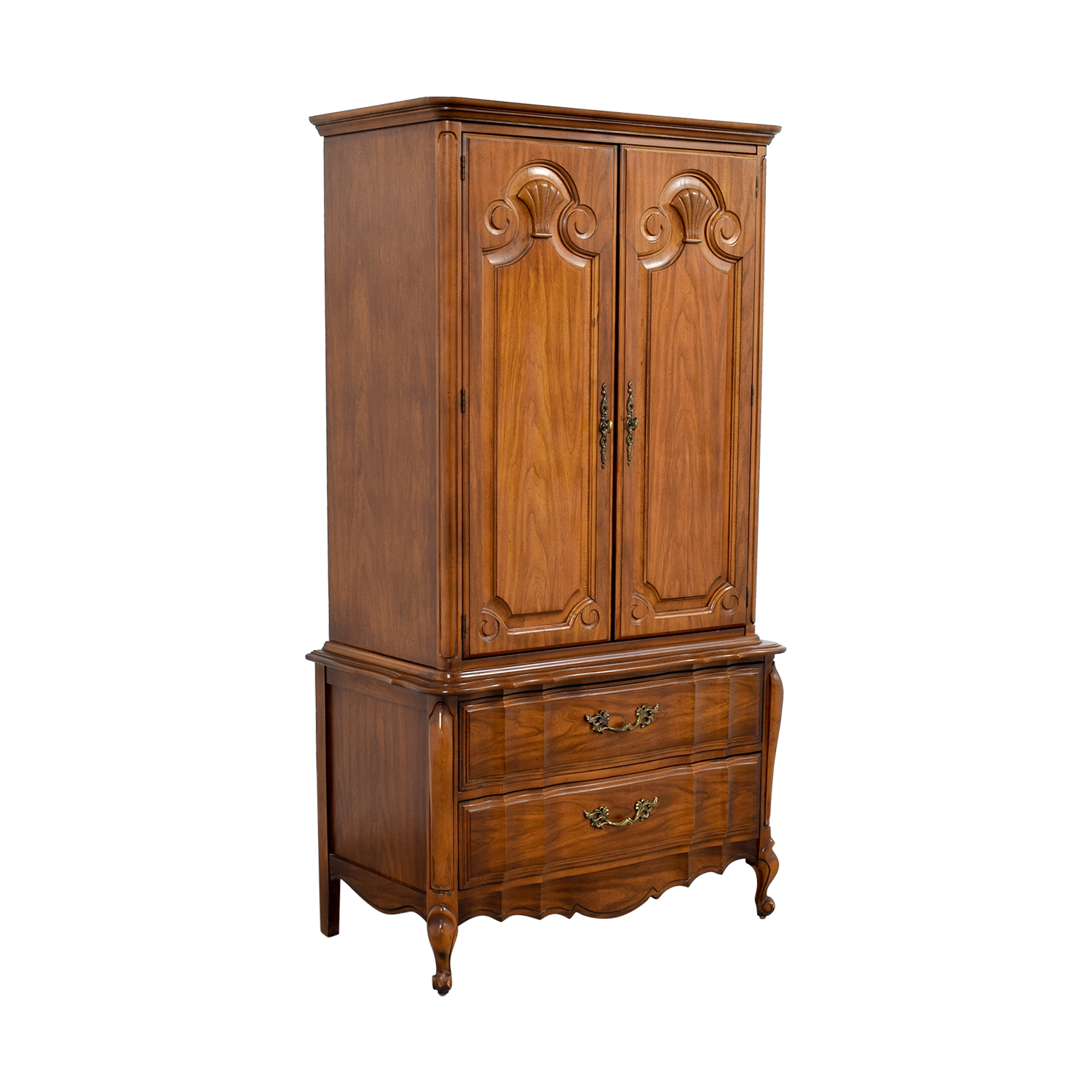 Wood Armoire with Drawers for sale