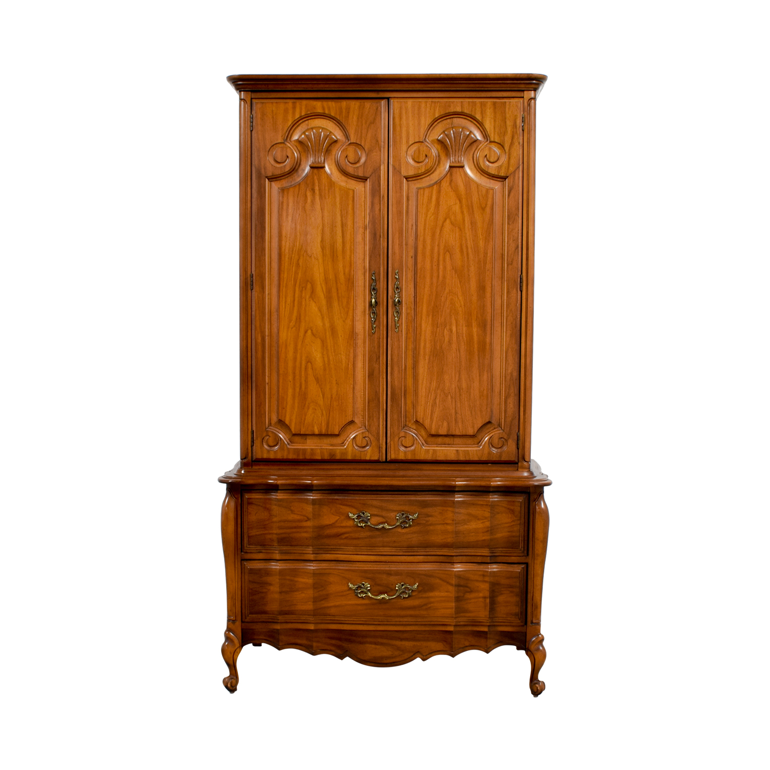 Wood Armoire with Drawers coupon