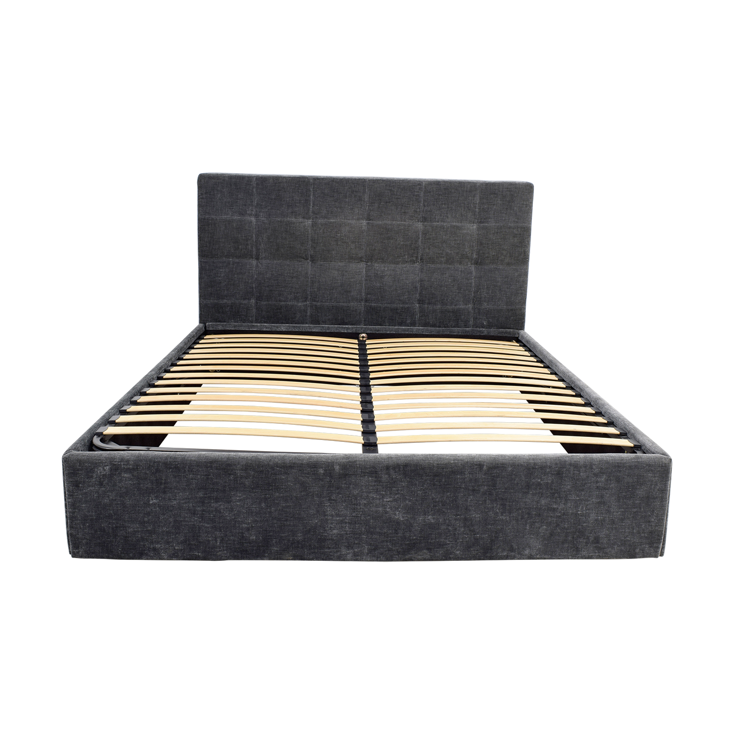 BoConcept BoConcept Grey Tufted Velvet Corduroy King Bed Frame with Storage dimensions