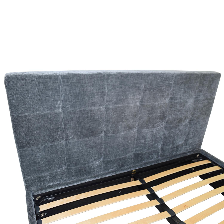 BoConcept BoConcept Grey Tufted Velvet Corduroy King Bed Frame with Storage for sale