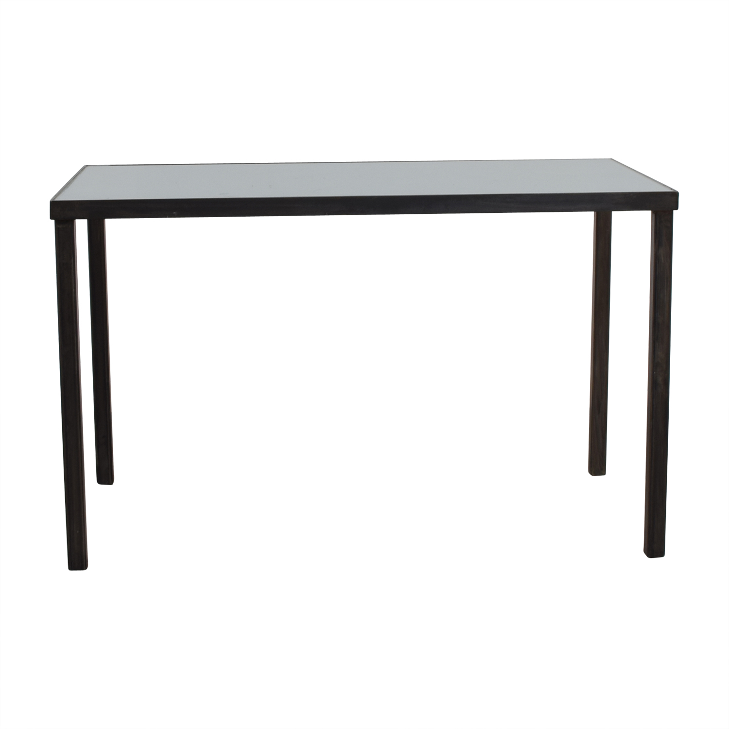 West Elm West Elm Glass Top and Steel Base Office Desk nj