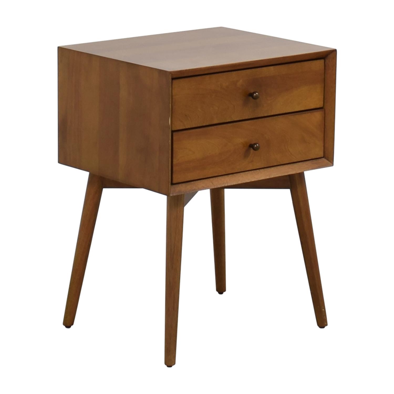 43 off west elm west elm mid century acorn nightstand. Black Bedroom Furniture Sets. Home Design Ideas