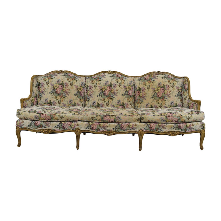 Vintage Floral Sofa dimensions