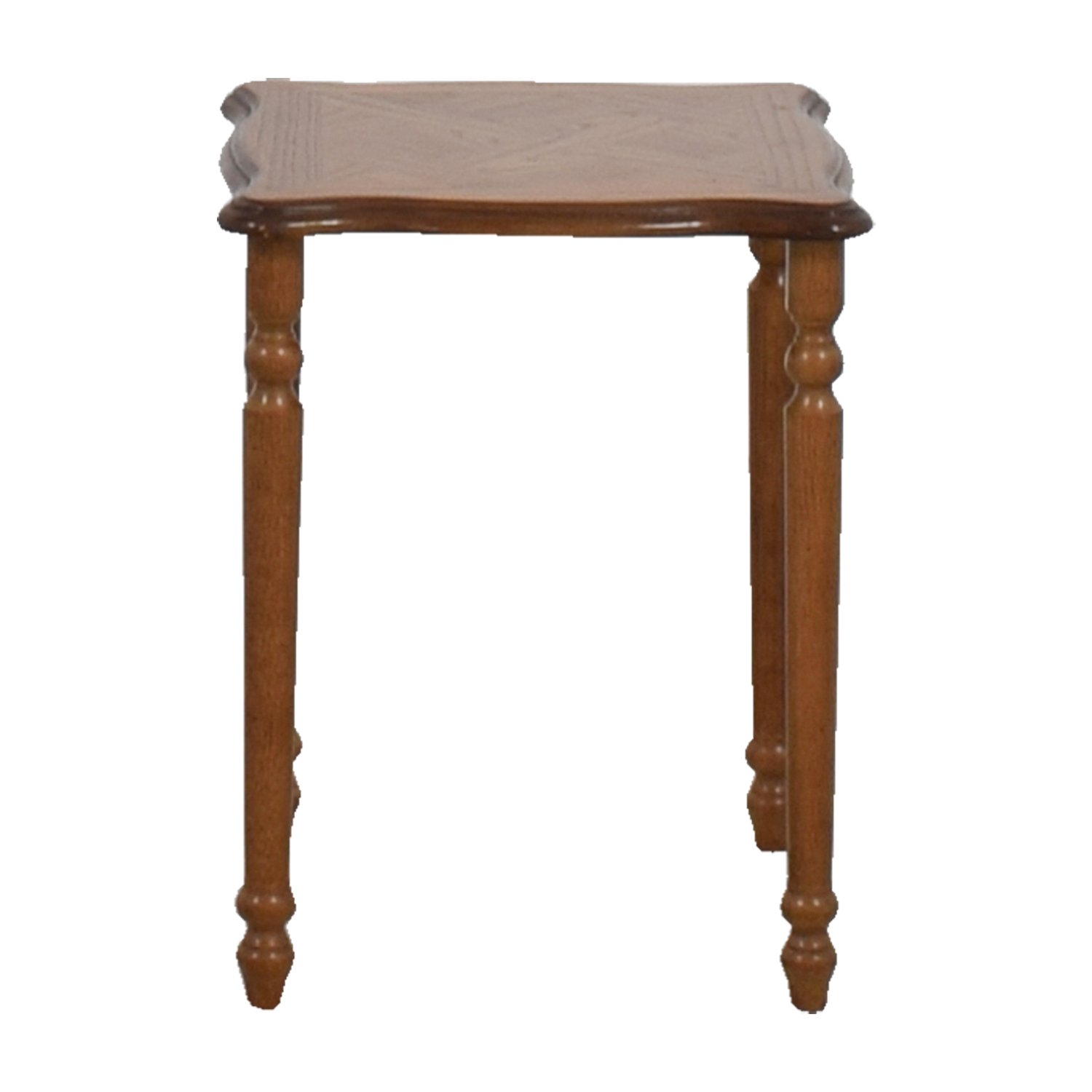 Classic Small Wooden End Table used