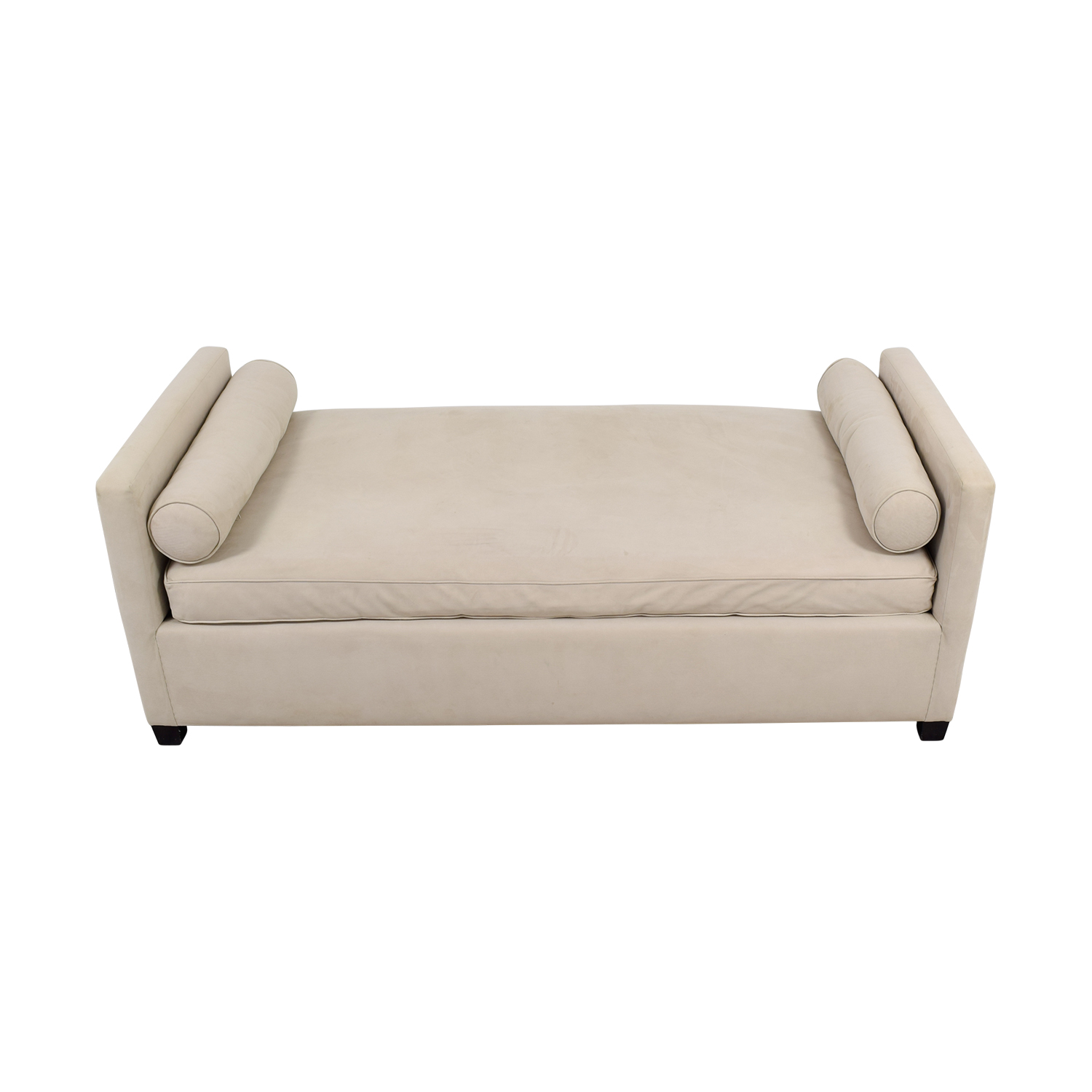 shop Beige Suede Day Bed