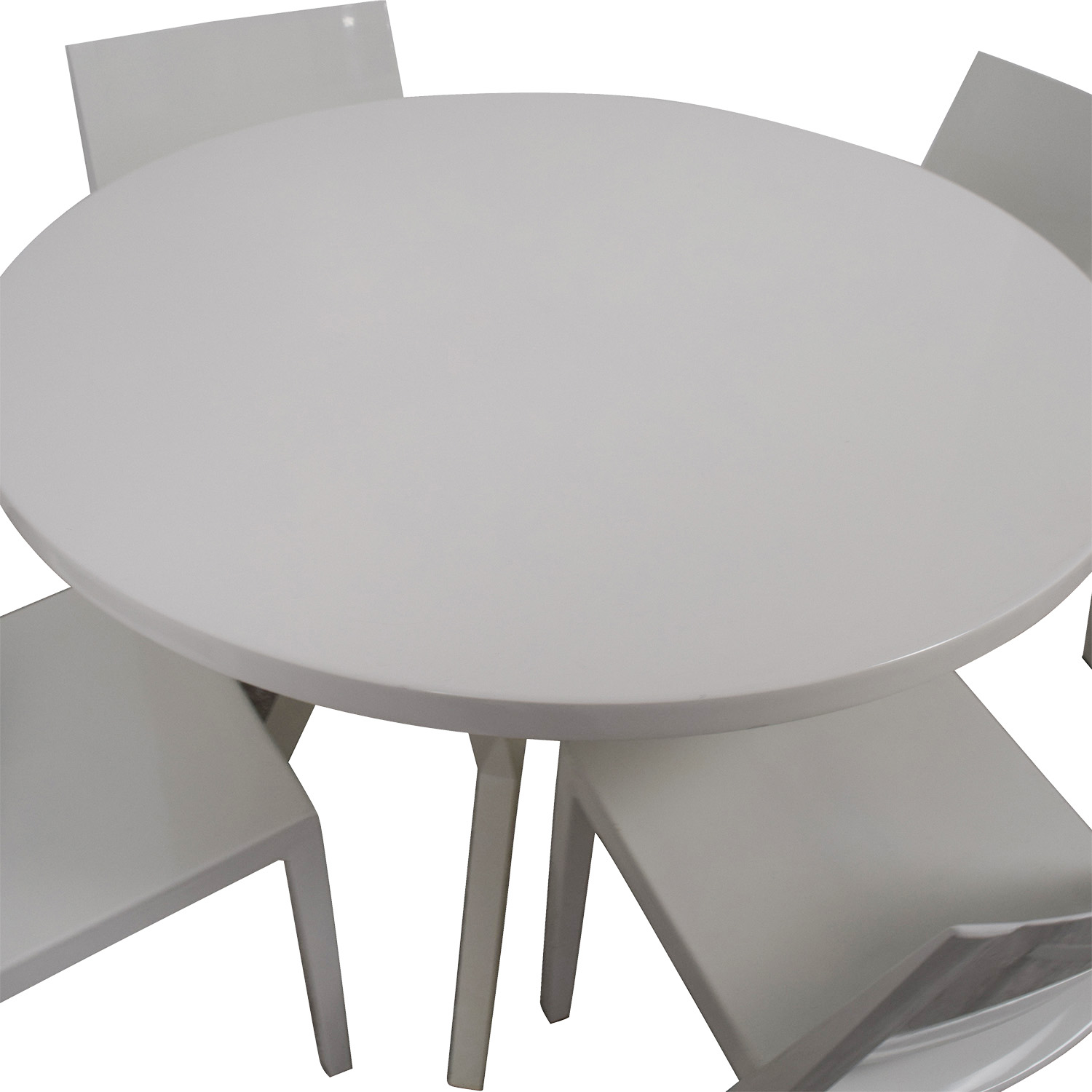 Crate And Barrel Dining Sets: Crate & Barrel Crate & Barrel Round White Dining