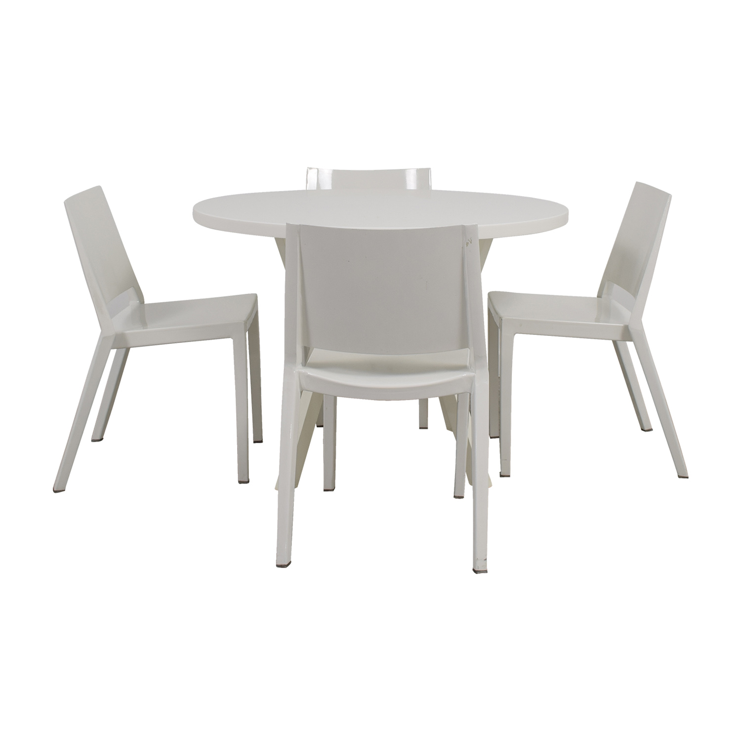 shop Crate & Barrel Crate & Barrel Round White Dining Set online