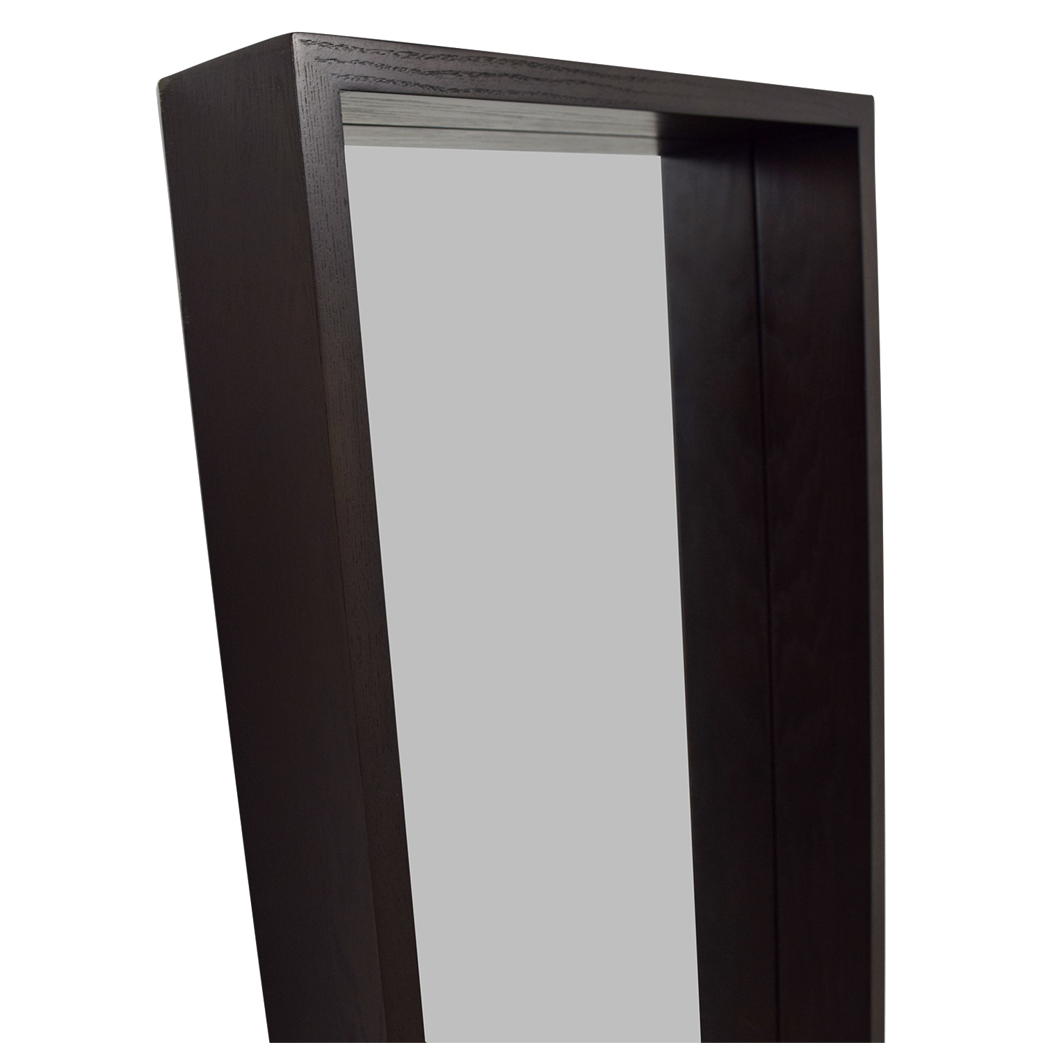 73% OFF - West Elm West Elm Wood Framed Floor Mirror / Decor