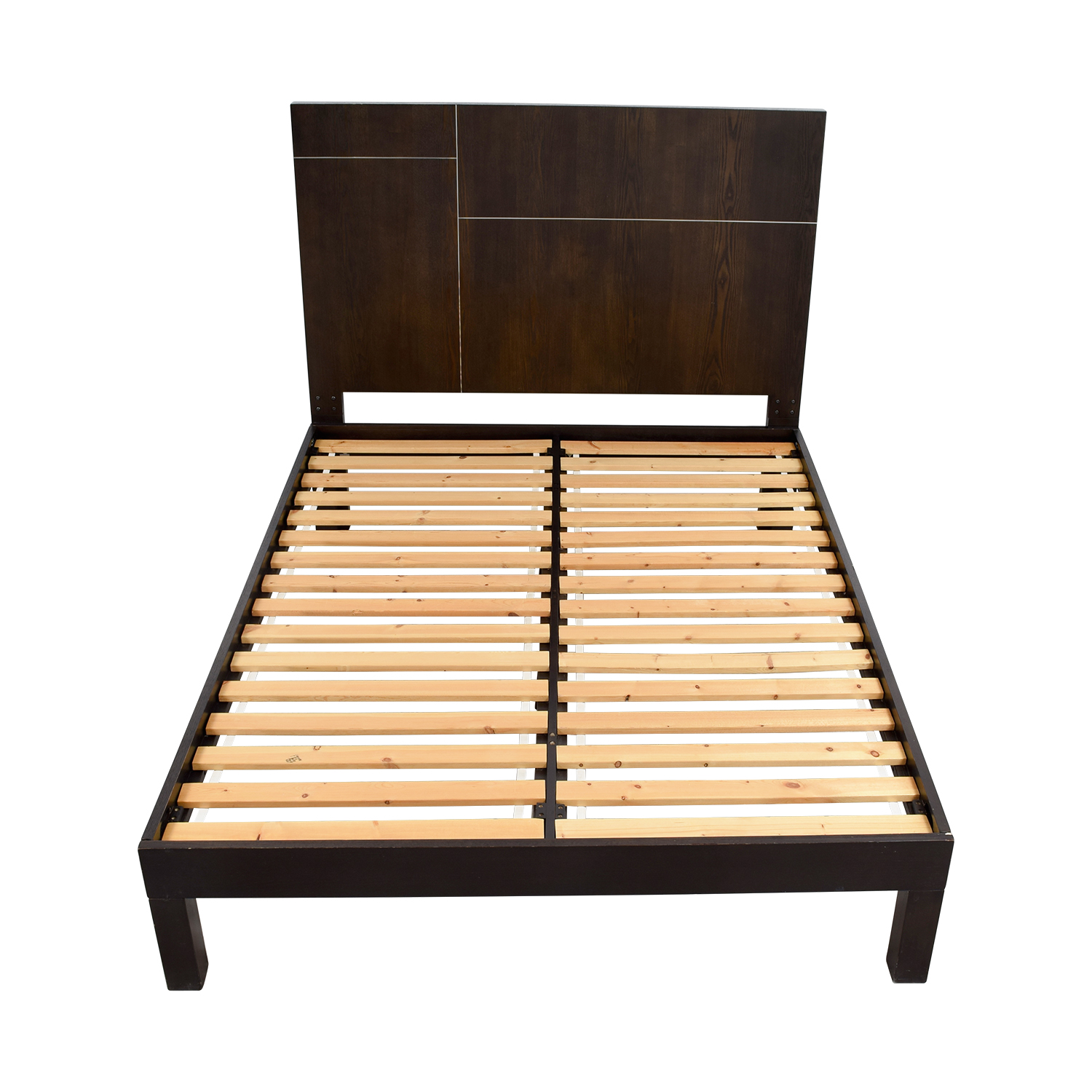 West Elm Wood Platform Queen Bed Frame sale