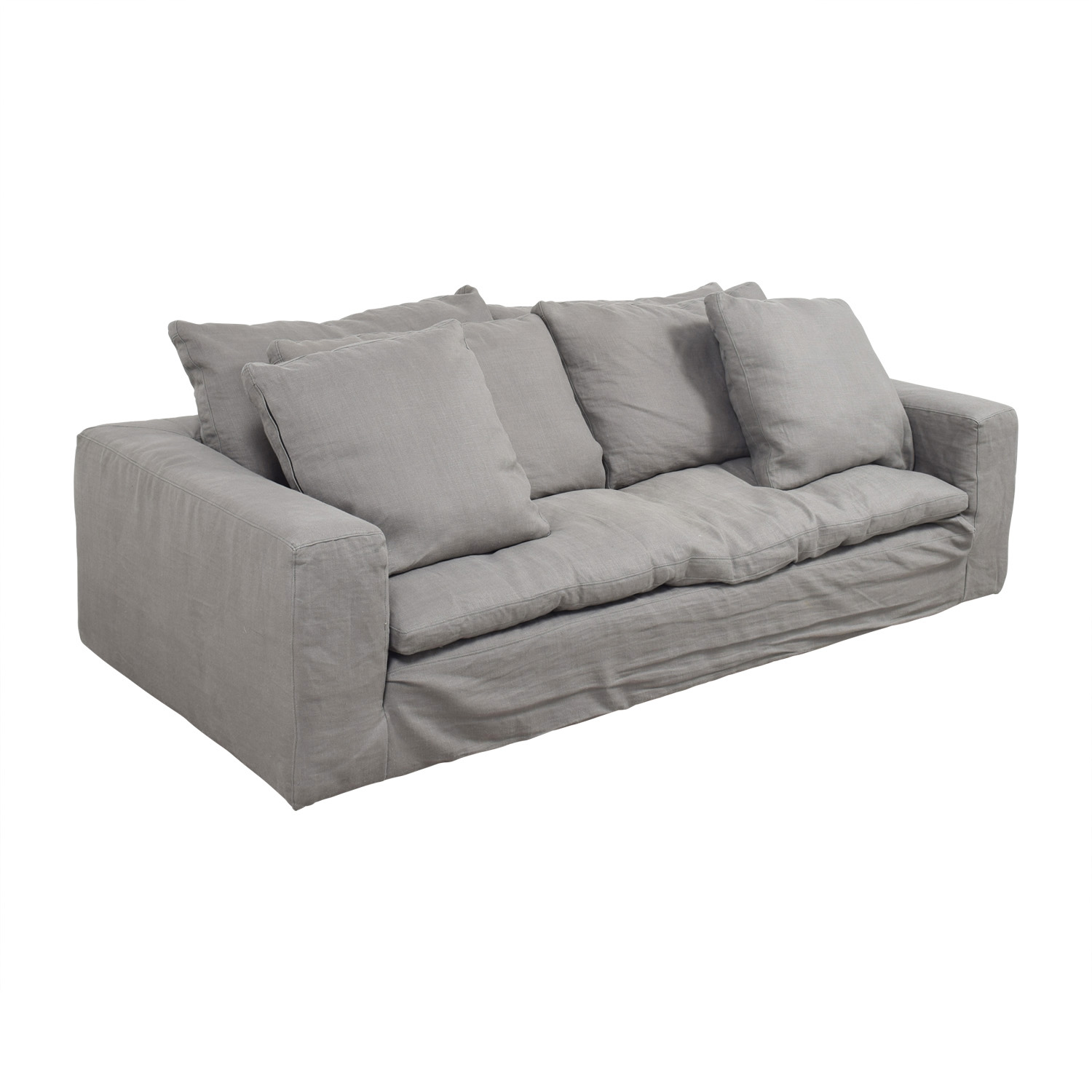 82 off restoration hardware restoration hardware grey for Second hand sofas