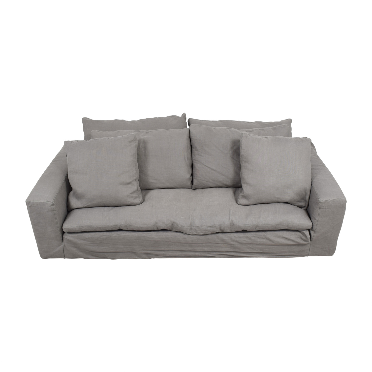 Restoration Hardware Restoration Hardware Grey Cloud Sofa nj