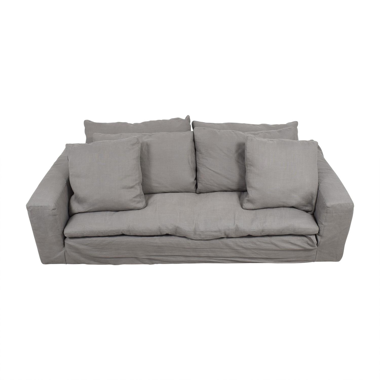 82% OFF - Restoration Hardware Restoration Hardware Grey Cloud Sofa / Sofas