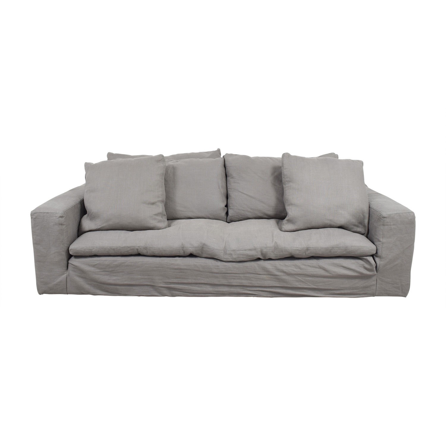 Great Restoration Hardware Restoration Hardware Grey Cloud Sofa Classic Sofas ...