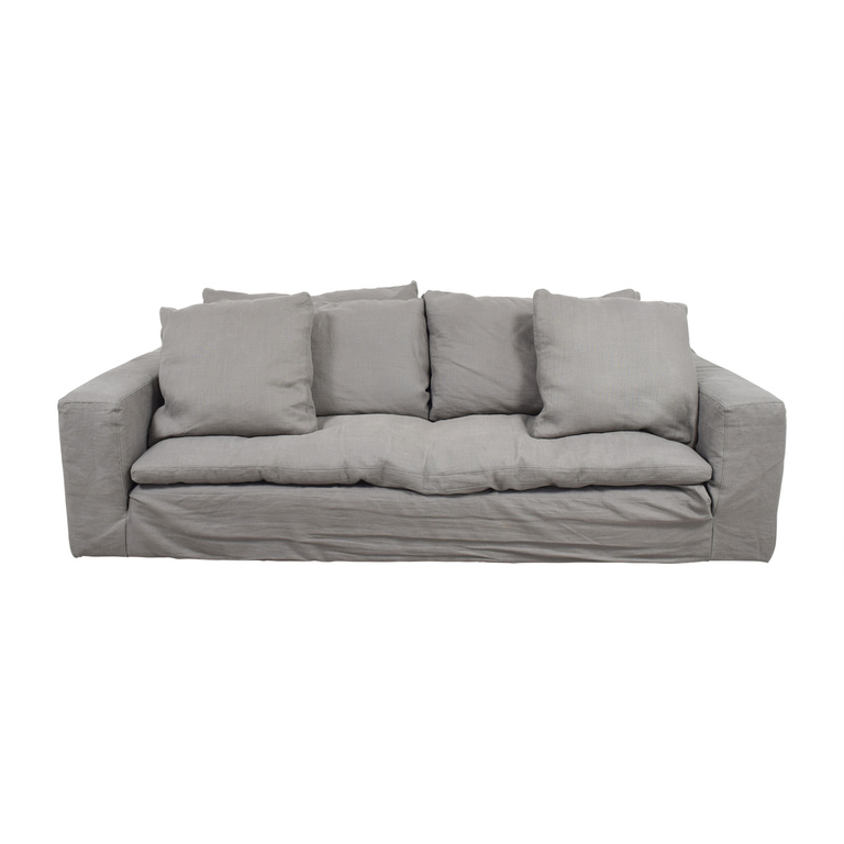 Restoration Hardware Grey Cloud Sofa Restoration Hardware