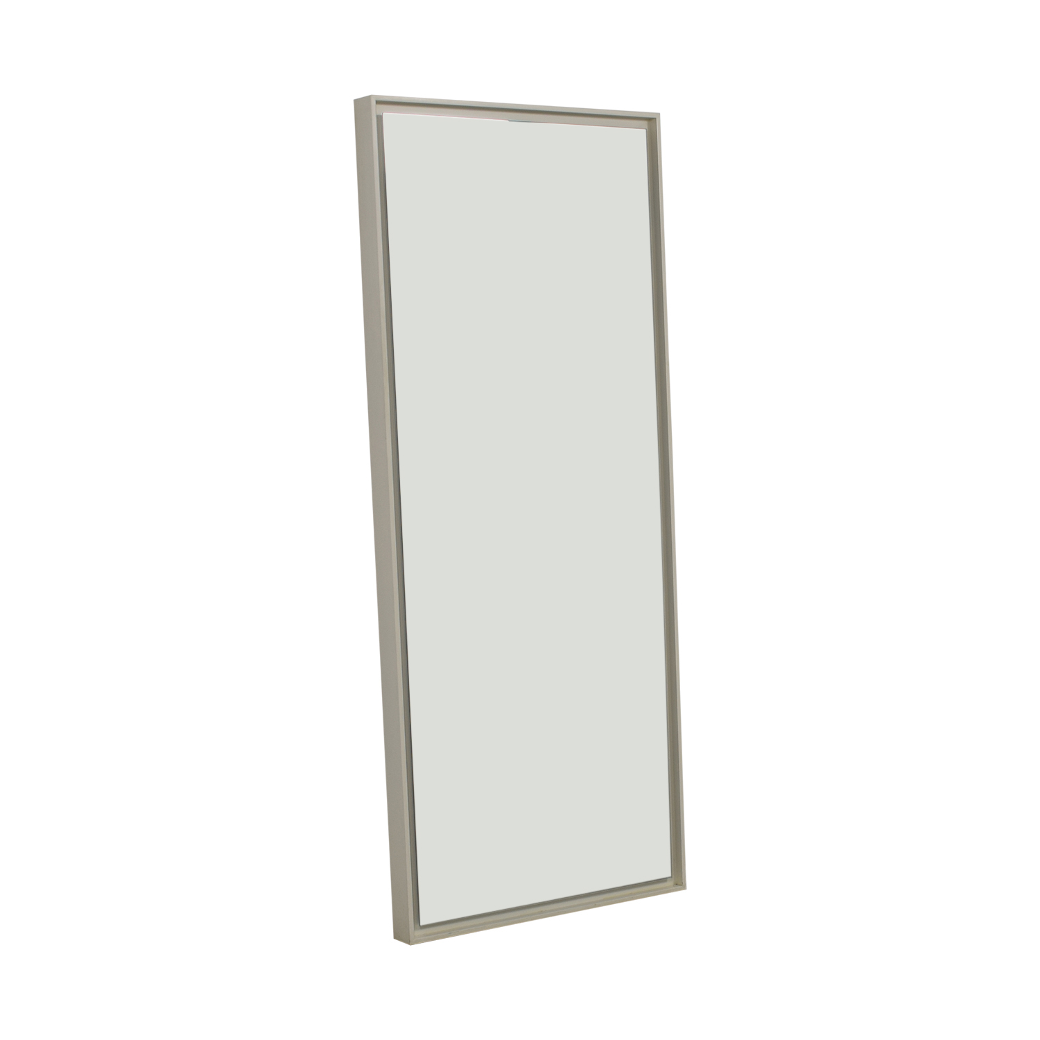 Crate & Barrel White Wall Mirror Crate & Barrel