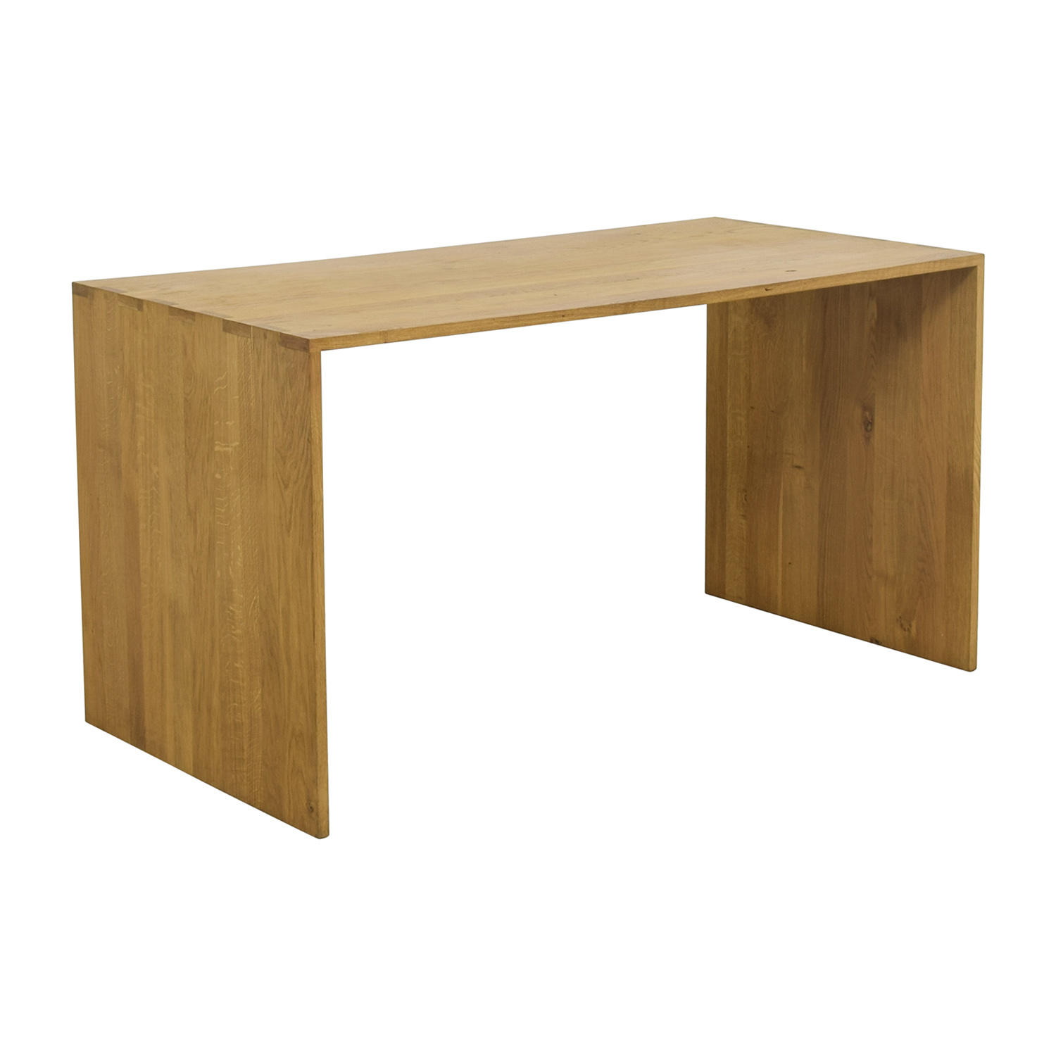 Bon ... Crate U0026 Barrel Crate U0026 Barrel Raw Oak Wood Desk Tables ...