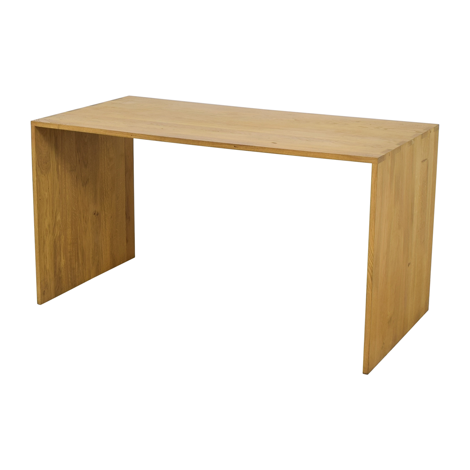 81 off crate barrel crate barrel raw oak wood desk tables