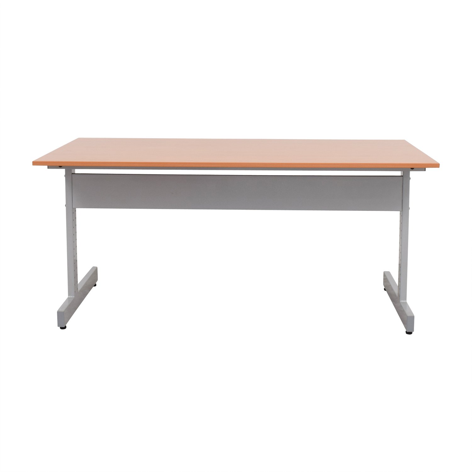 buy Metal and Wood Desk Home Office Desks