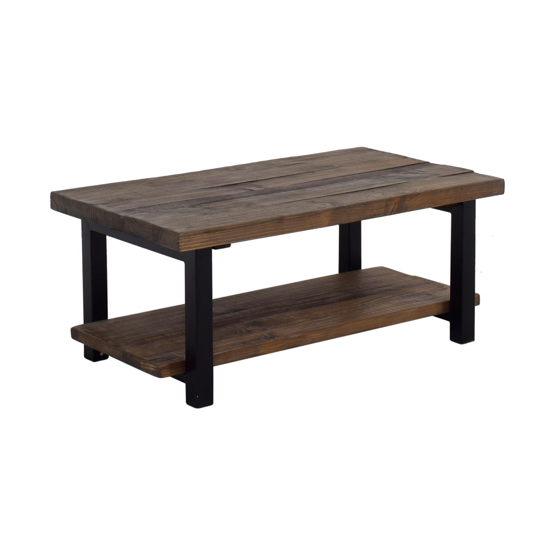 72 Off Loon Peak Loon Peak Somers Wood And Metal Coffee Table