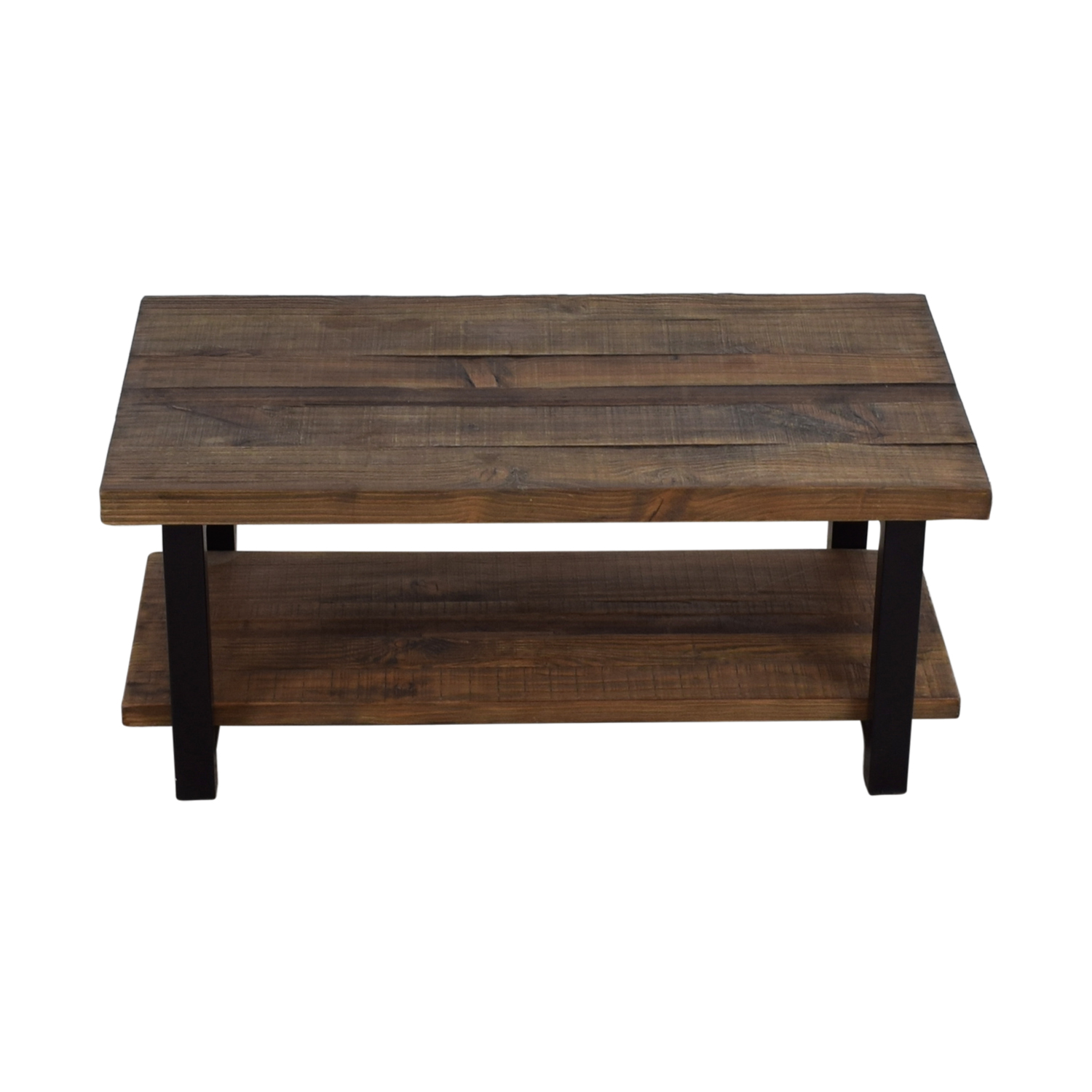 shop Loon Peak Somers Wood and Metal Coffee Table Loon Peak Tables