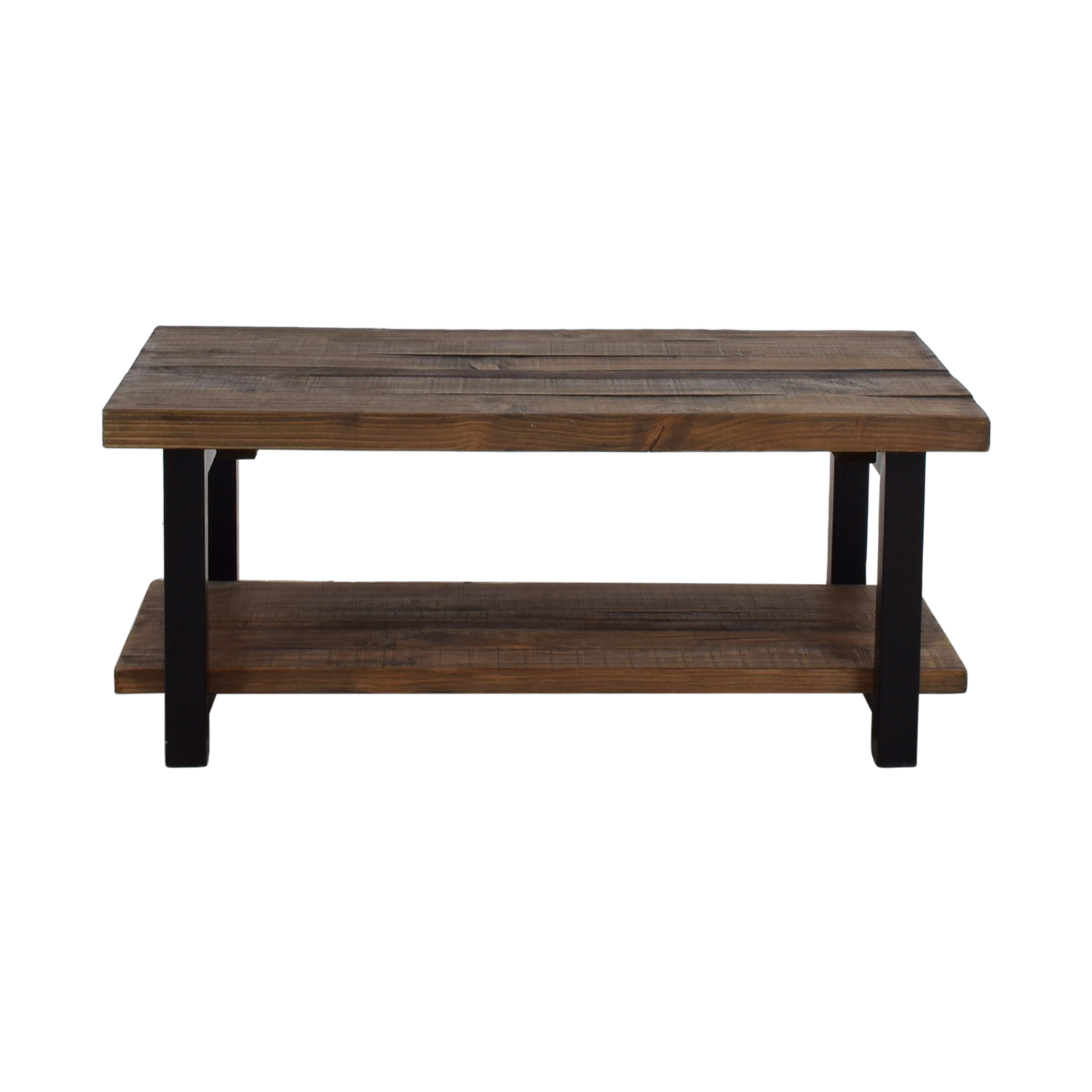 Shop Loon Peak Somers Wood And Metal Coffee Table Loon Peak ...